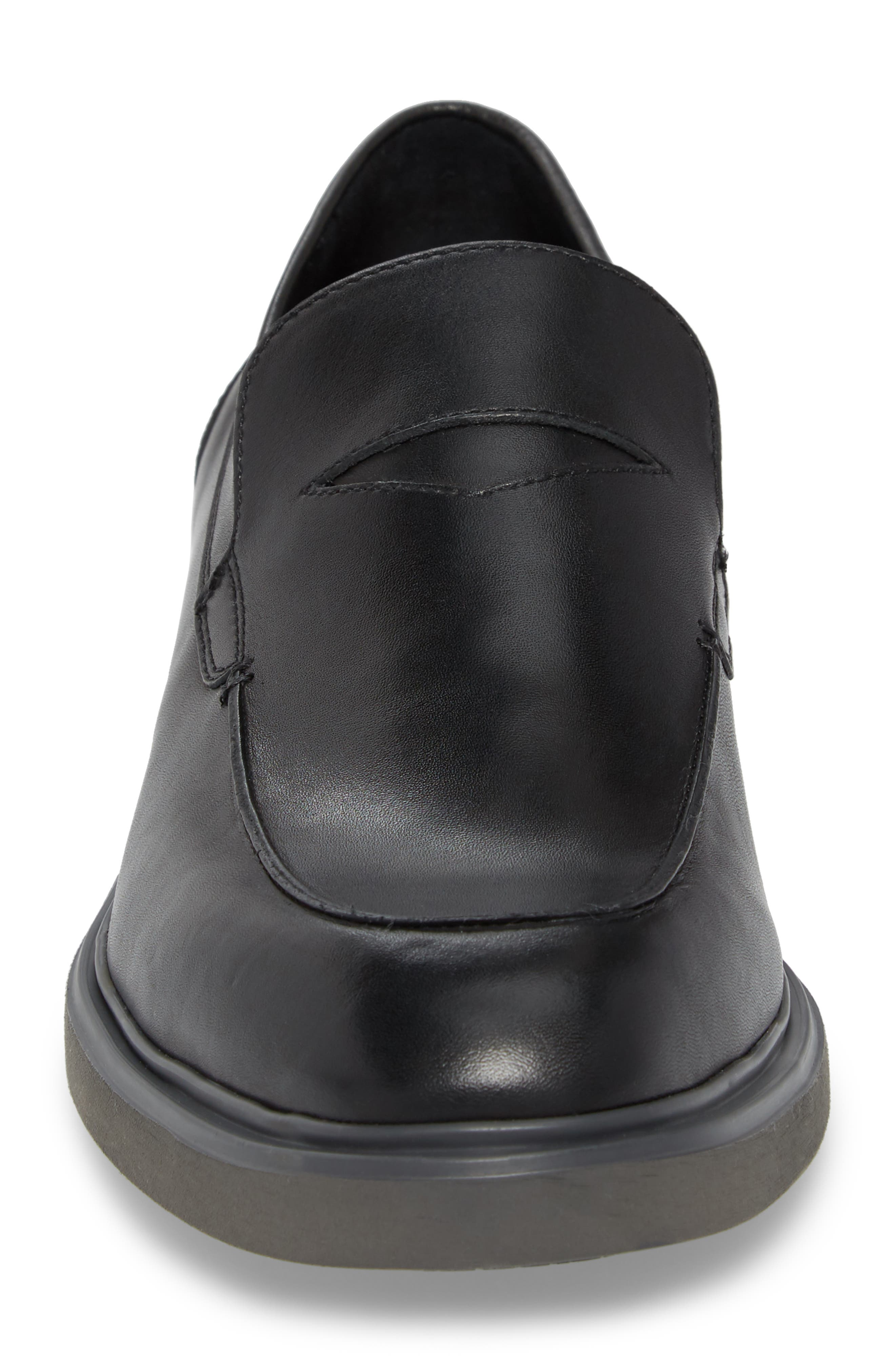 Edwyn Deconstructed Penny Loafer,                             Alternate thumbnail 4, color,                             Black Leather