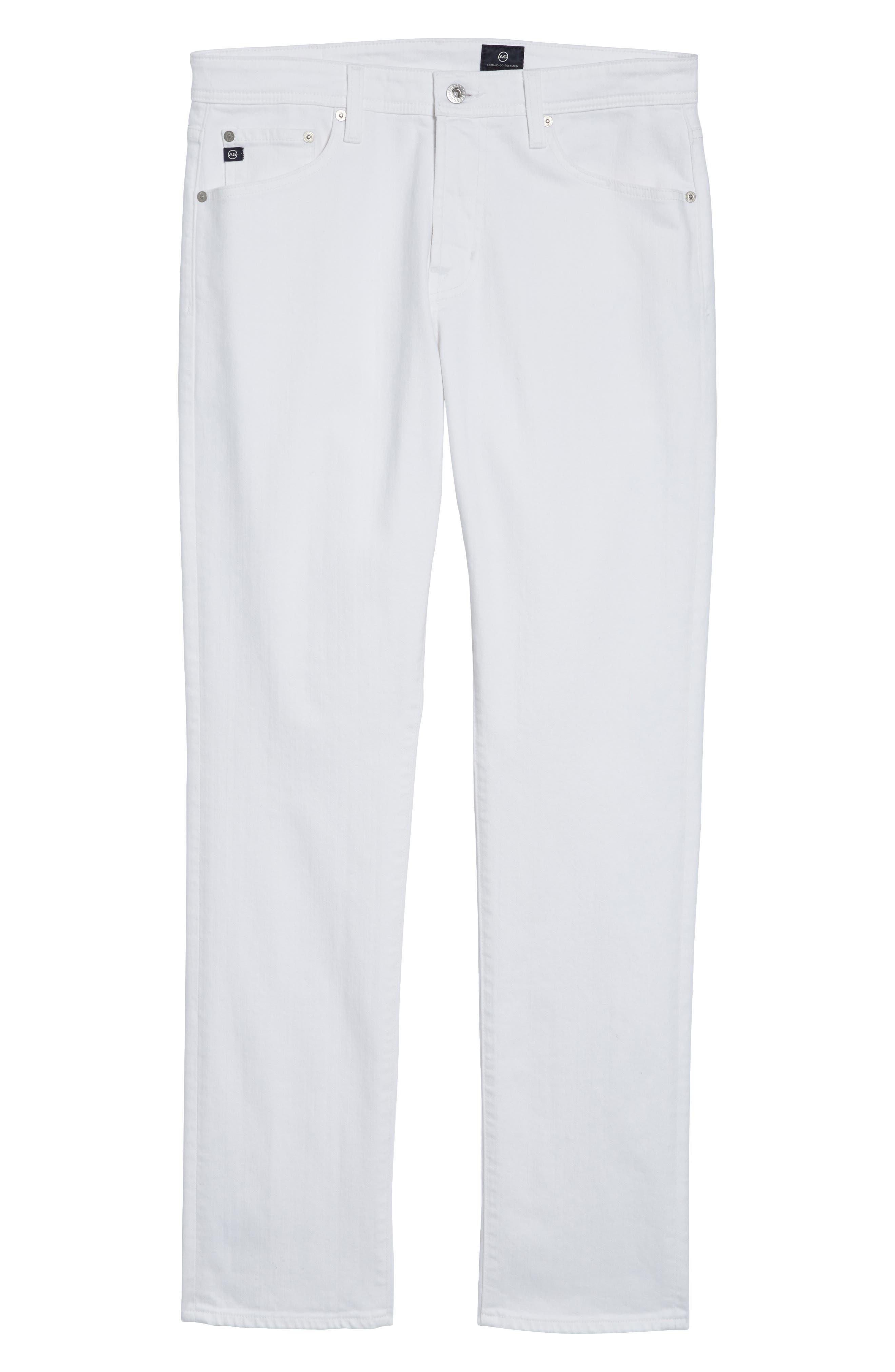 Everett Slim Straight Leg Jeans,                             Alternate thumbnail 6, color,                             White