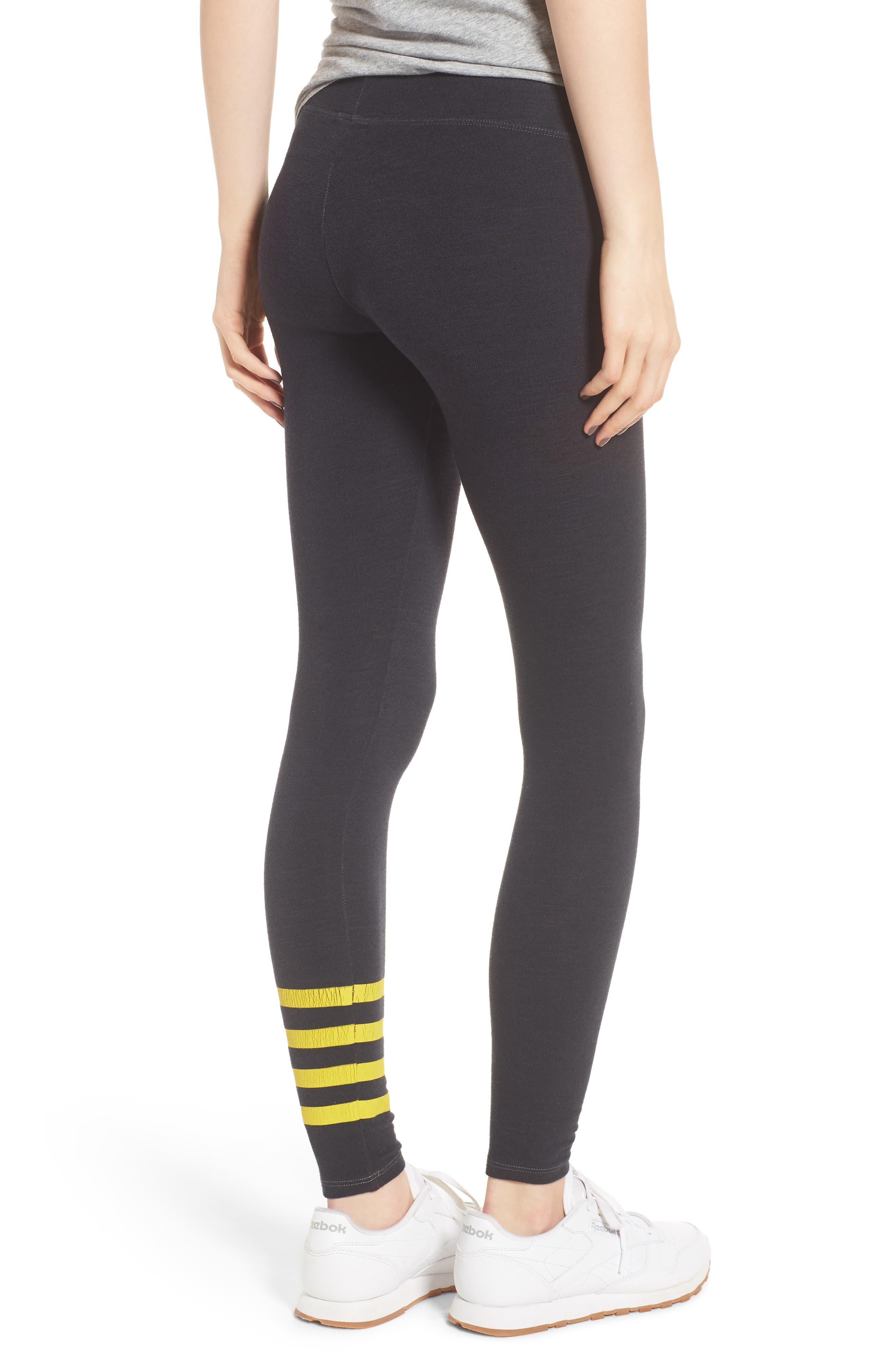 Stripe Yoga Pants,                             Alternate thumbnail 2, color,                             Old Black