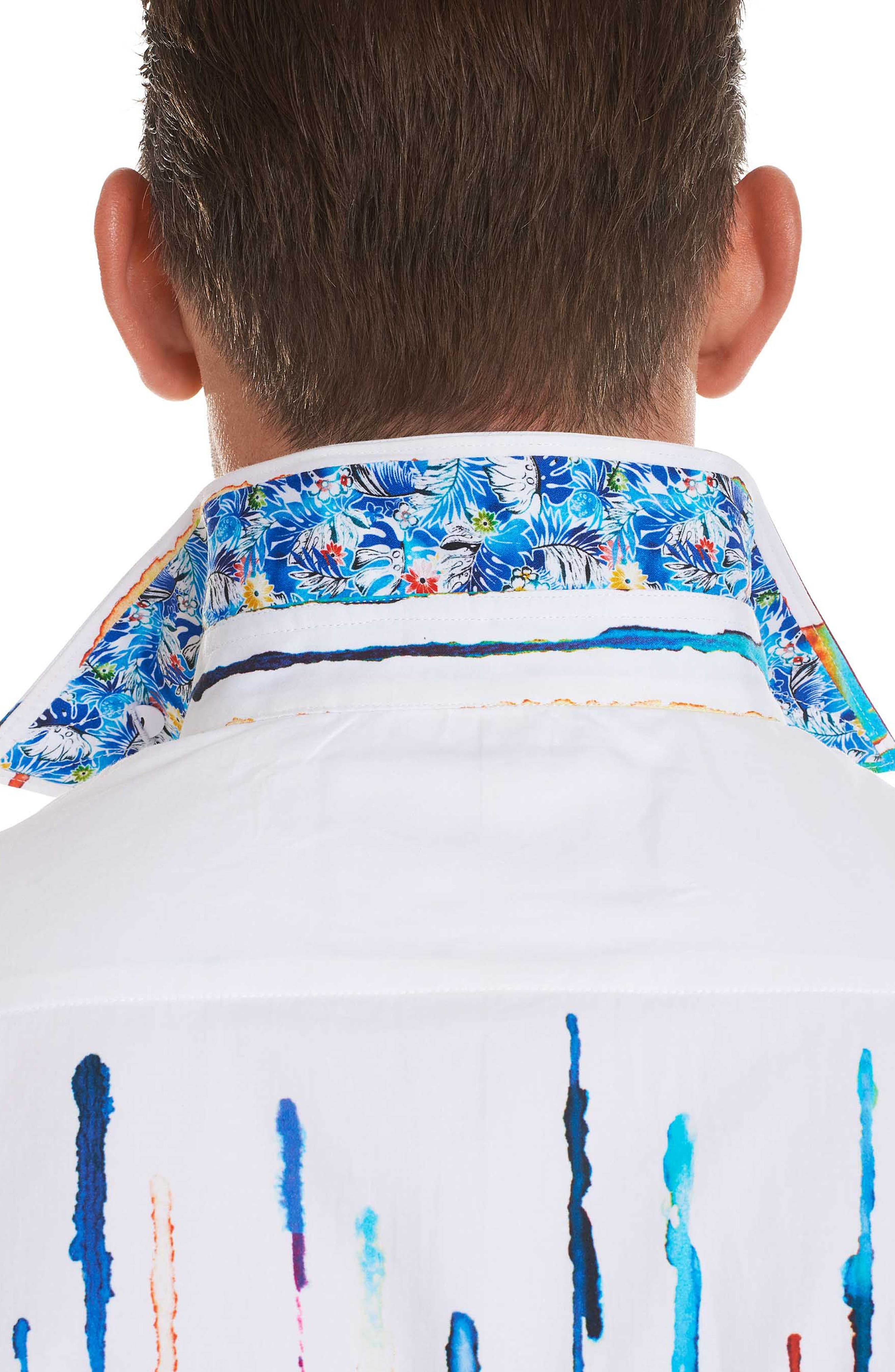 Reyna Classic Fit Sport Shirt,                             Alternate thumbnail 4, color,                             White