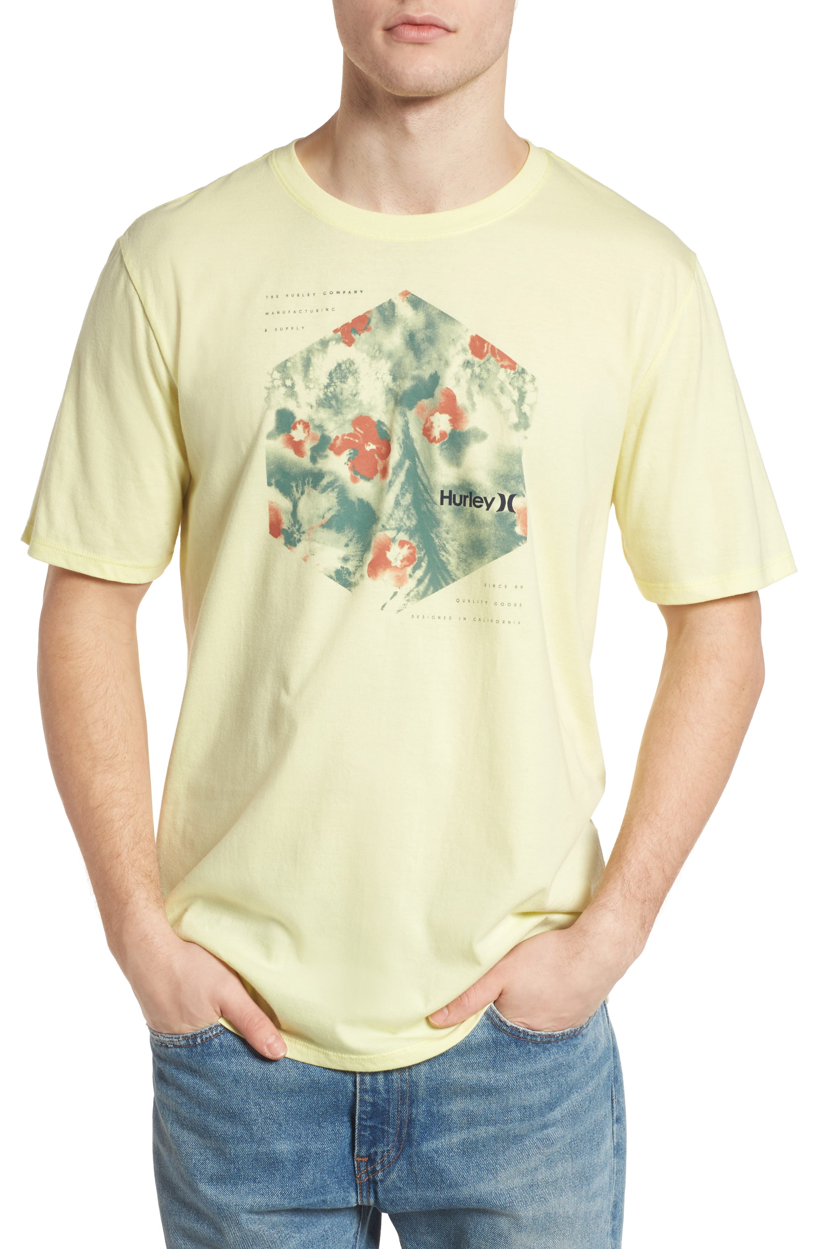 Watercolor T-Shirt,                         Main,                         color, Citron Tint