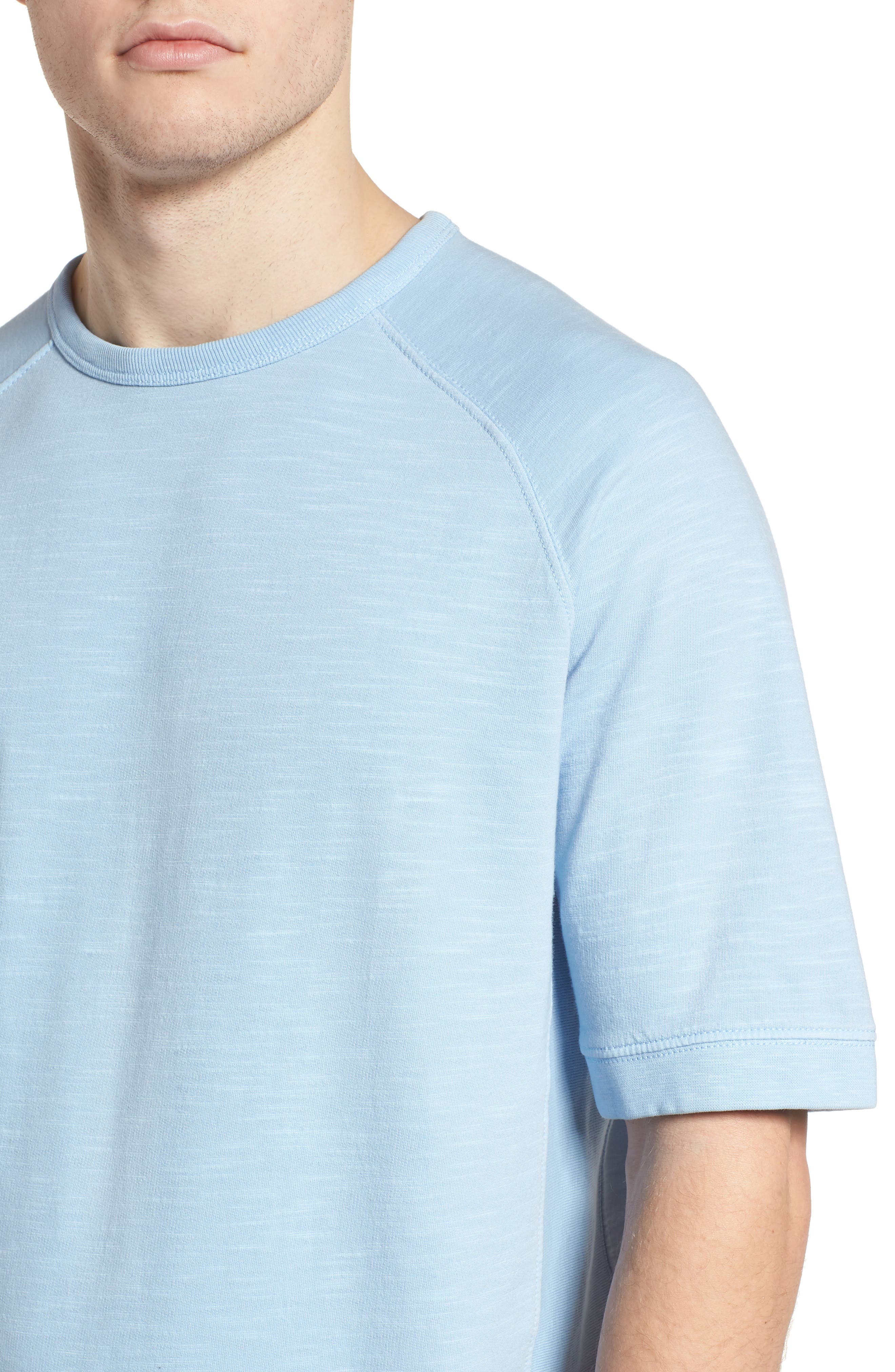 Workout Relaxed Fit Crewneck T-Shirt,                             Alternate thumbnail 4, color,                             Sky Blue