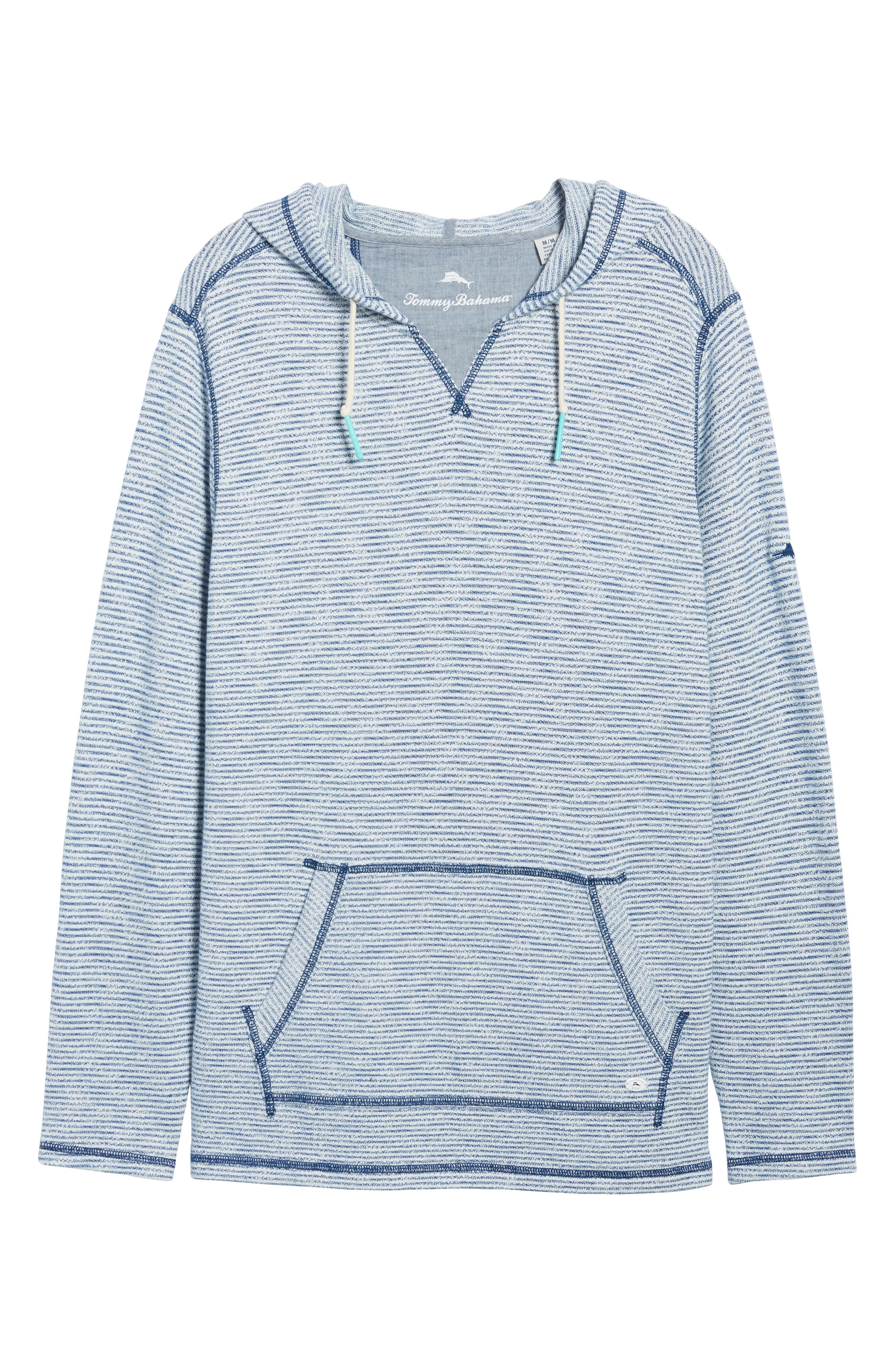 Bayfront Stripe Hoodie,                             Alternate thumbnail 6, color,                             Galaxy Blue