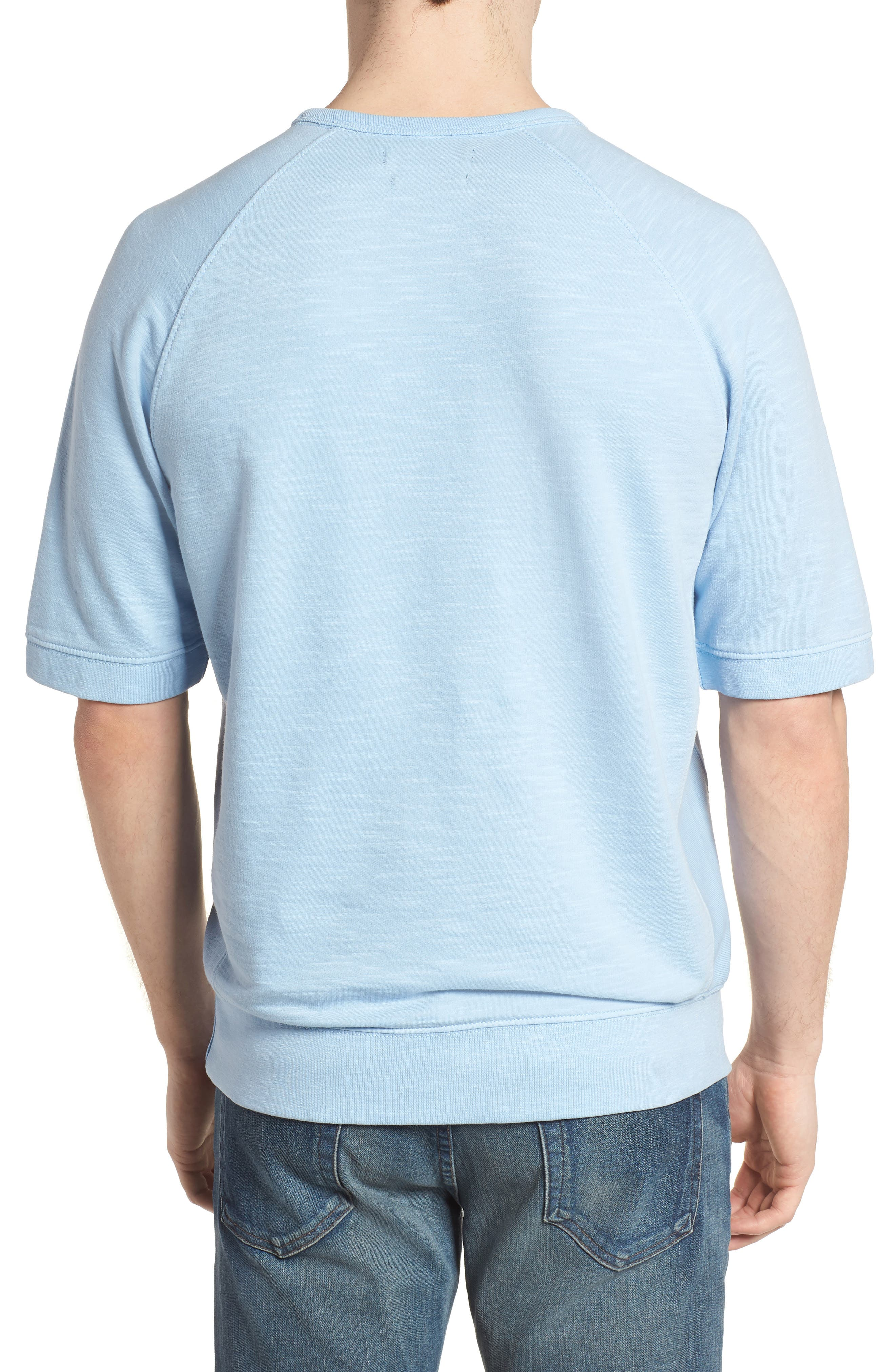 Workout Relaxed Fit Crewneck T-Shirt,                             Alternate thumbnail 2, color,                             Sky Blue
