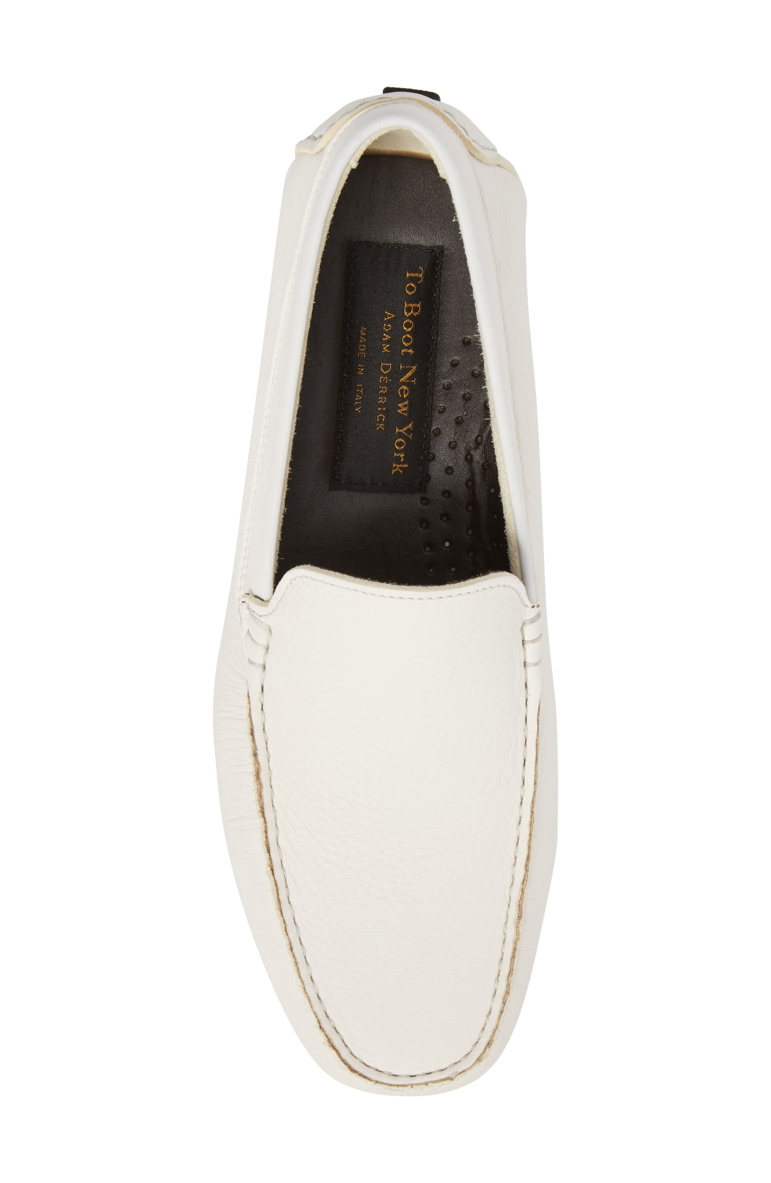 Harlan Driving Loafer,                             Alternate thumbnail 5, color,                             White Leather