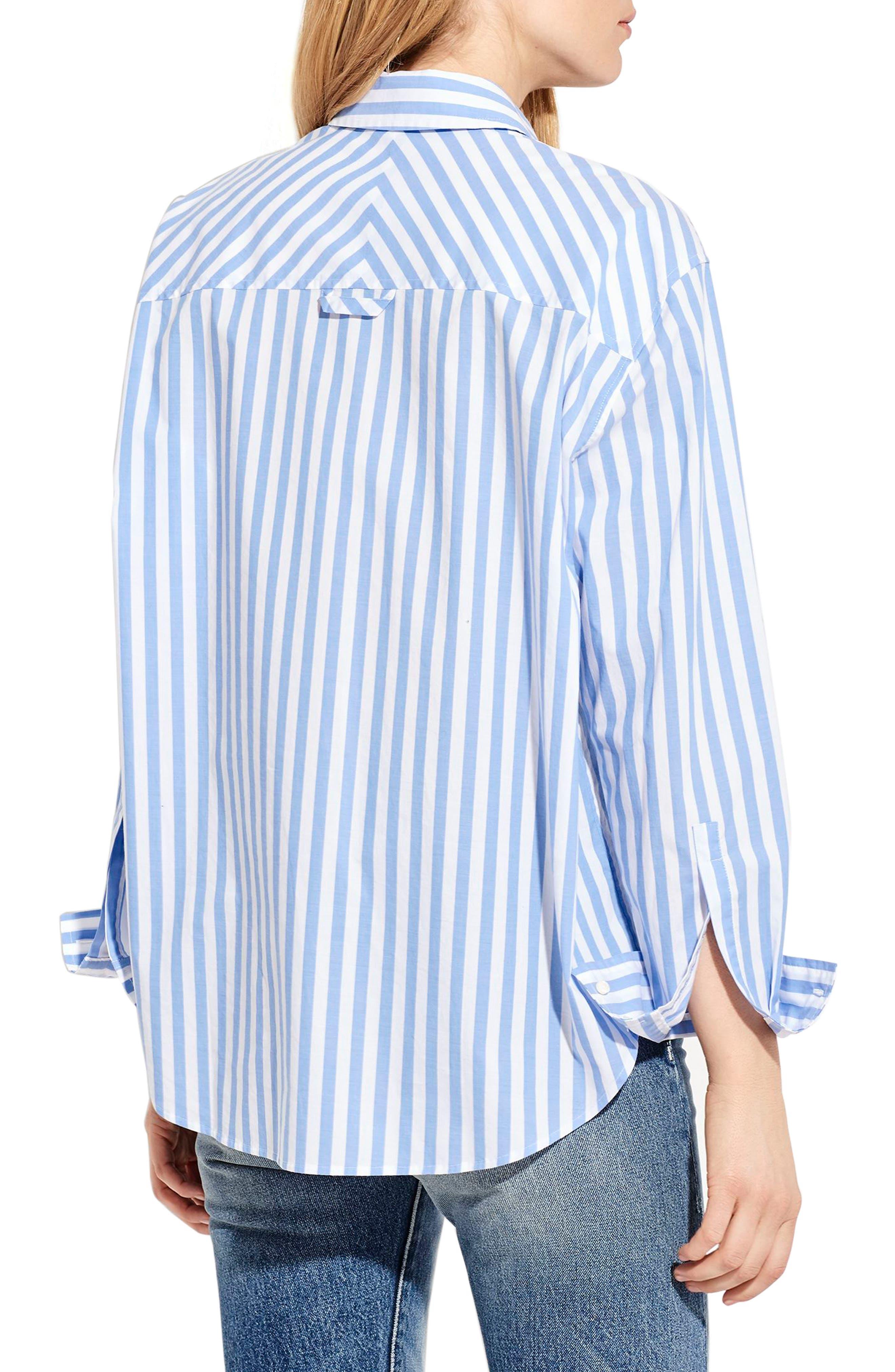 The Deep End Stripe Shirt,                             Alternate thumbnail 2, color,                             Blue/ White Stripe