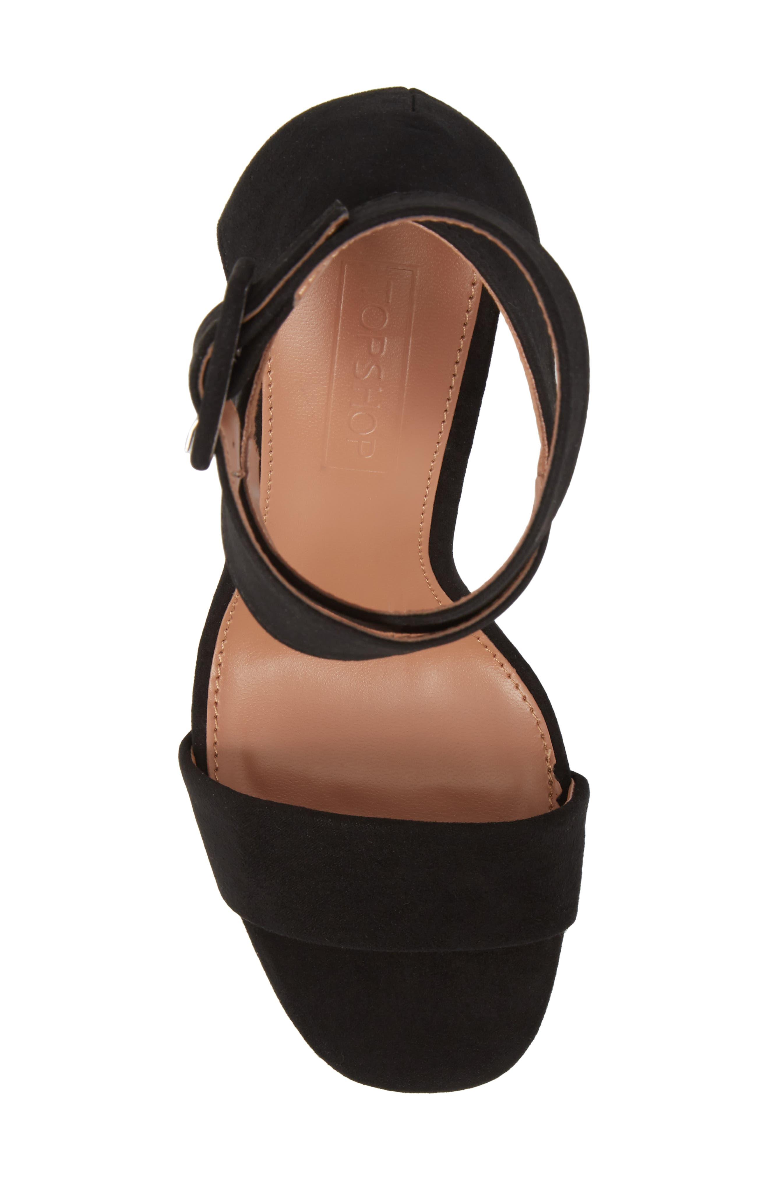 Sinitta Crossover Sandal,                             Alternate thumbnail 5, color,                             Black