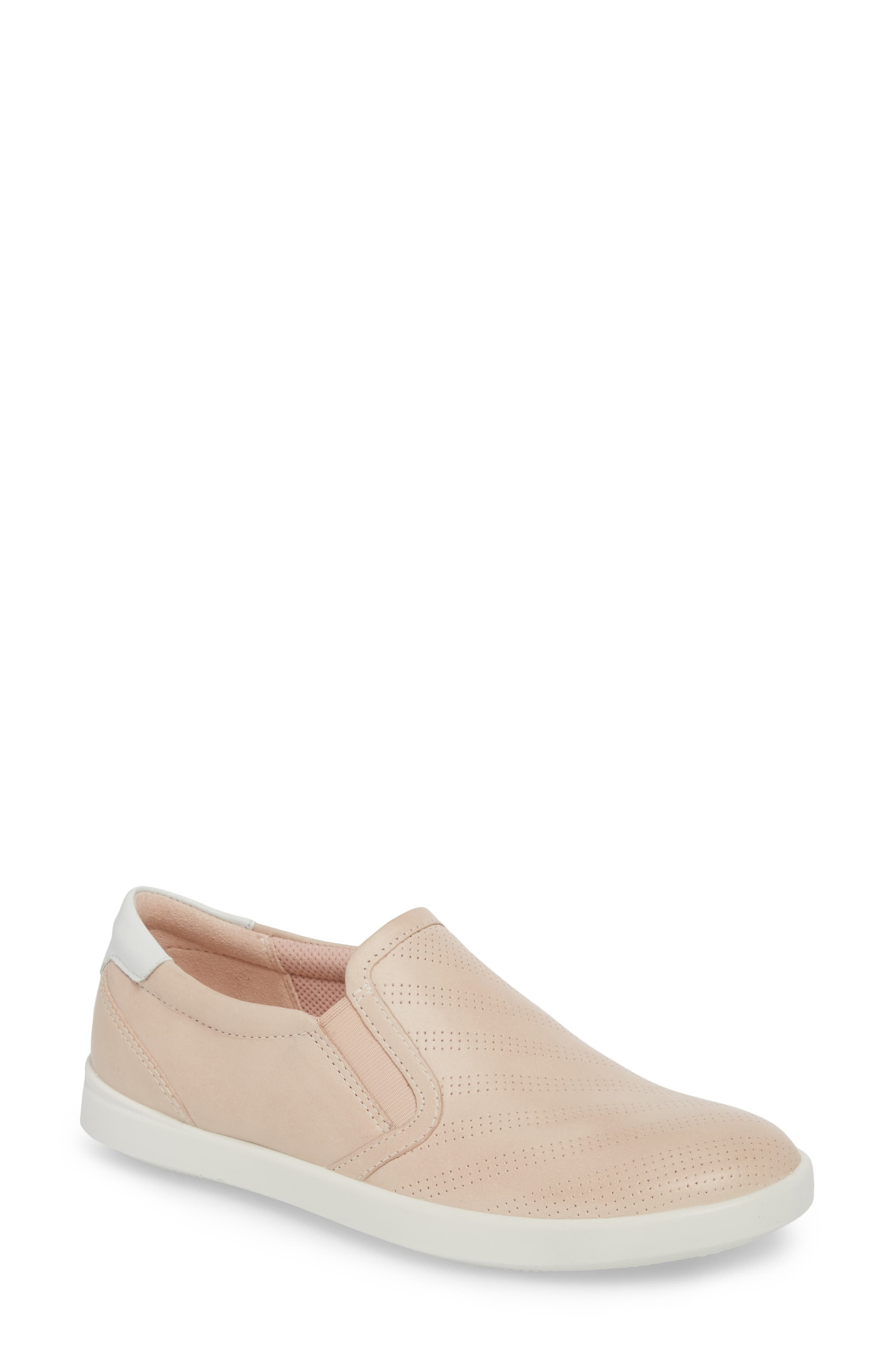 'Aimee' Slip-On Sneaker,                             Main thumbnail 1, color,                             Rose Dust Leather