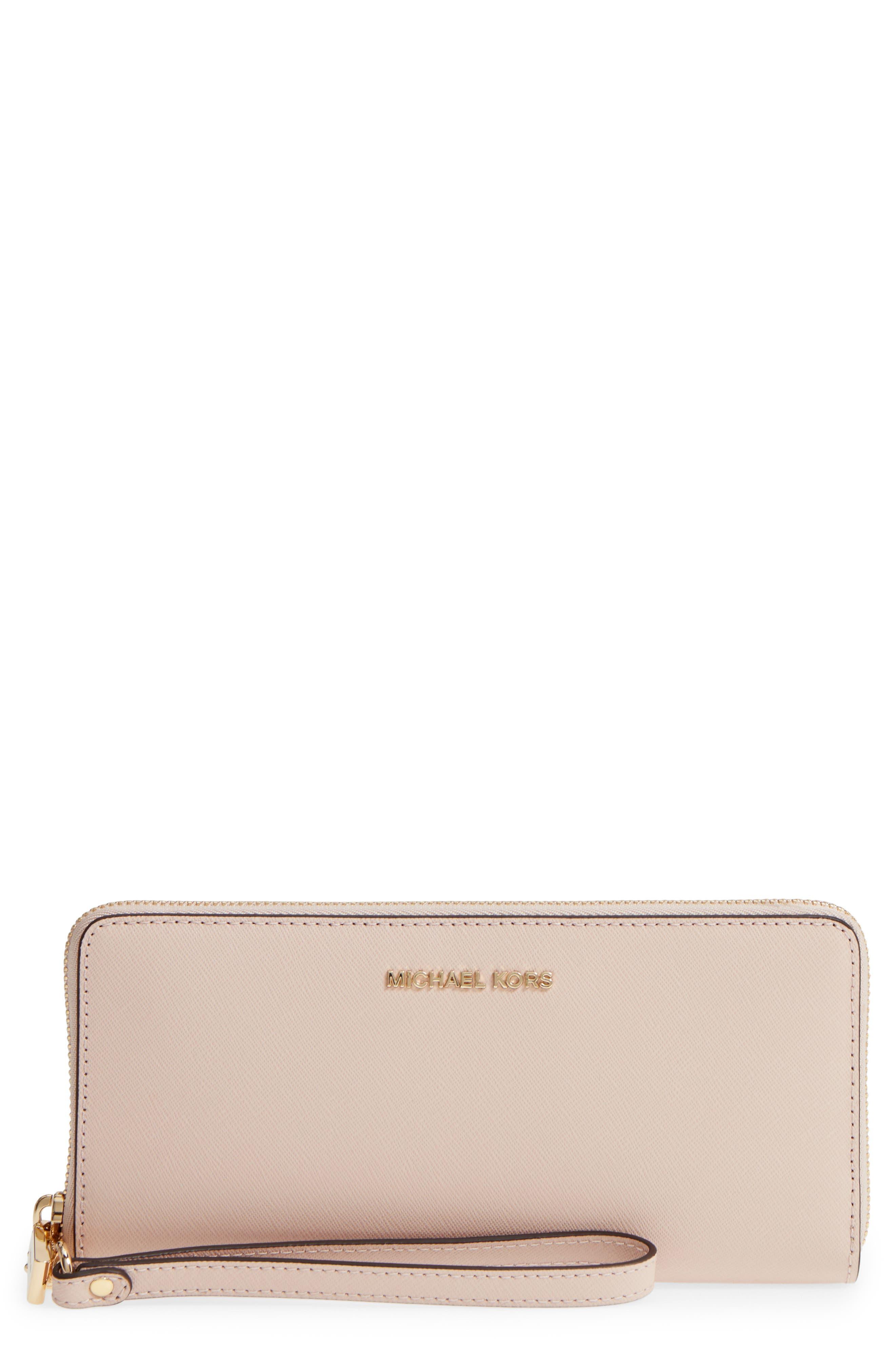 Main Image - MICHAEL Michael Kors 'Jet Set' Leather Travel Wallet