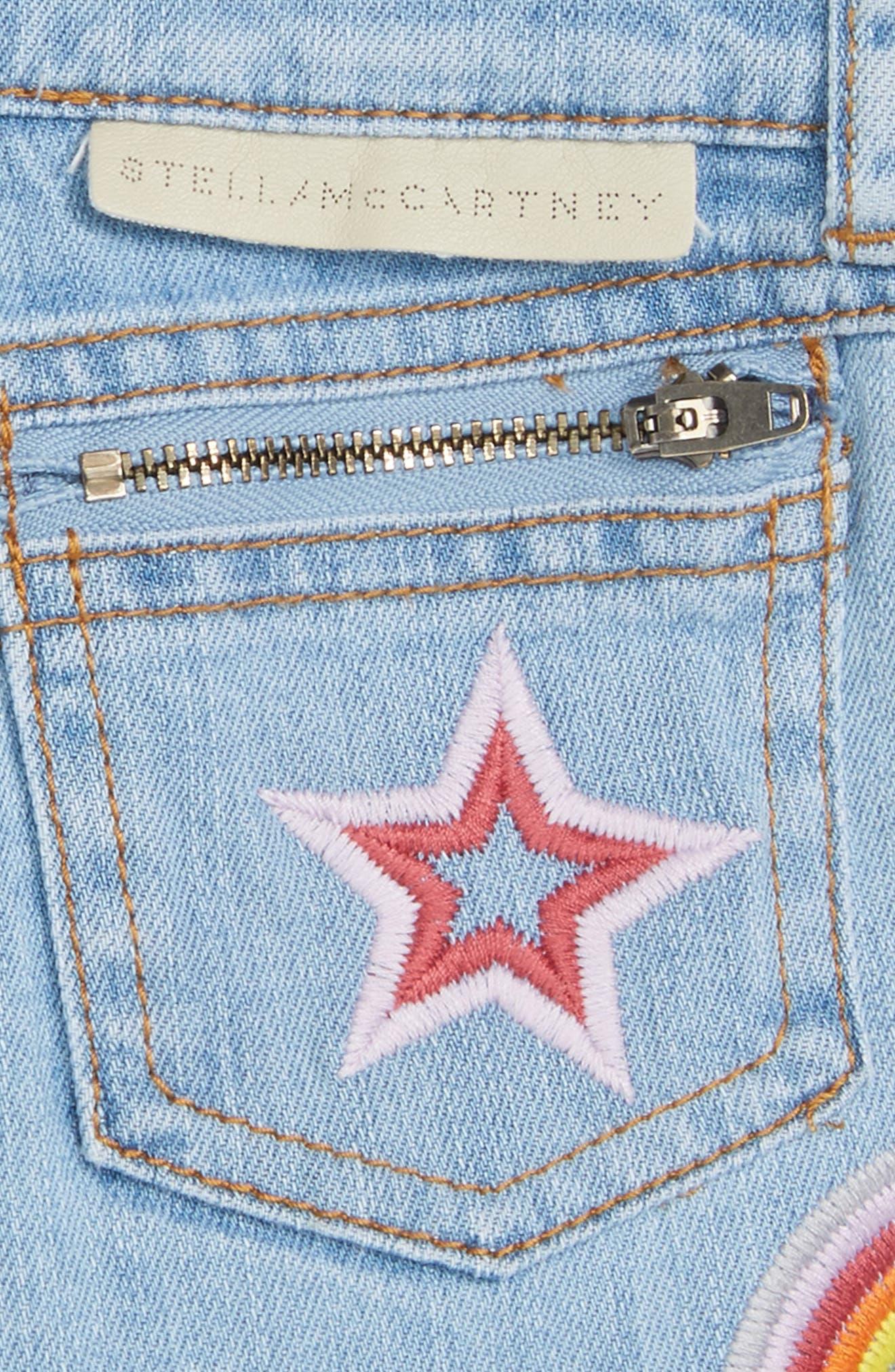 Alternate Image 3  - Stella McCartney Kids Marlin Patched Cutoff Denim Shorts (Toddler Girls, Little Girls & Big Girls)