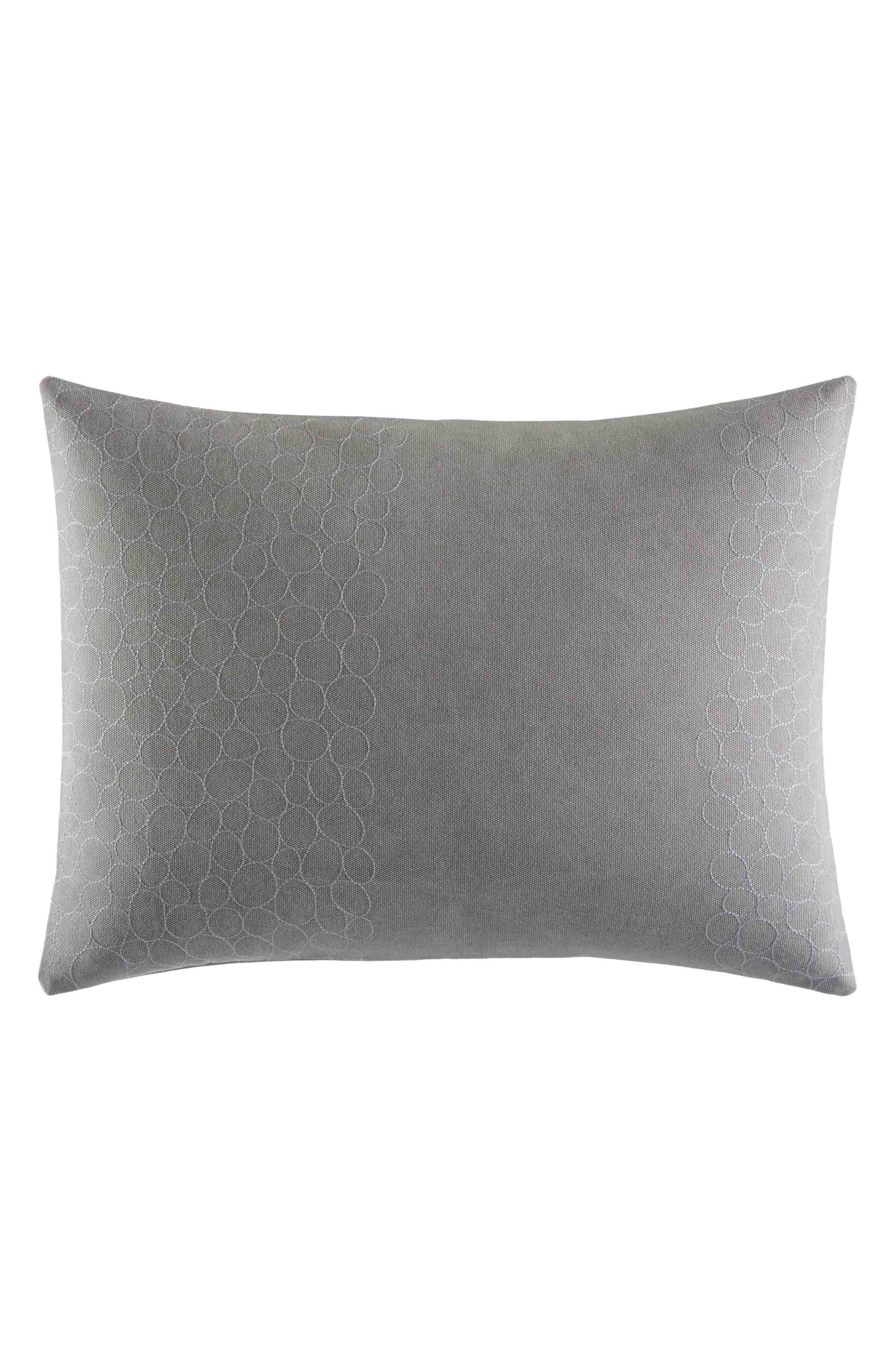 Transparent Leaves Breakfast Pillow,                         Main,                         color, Medium Gray
