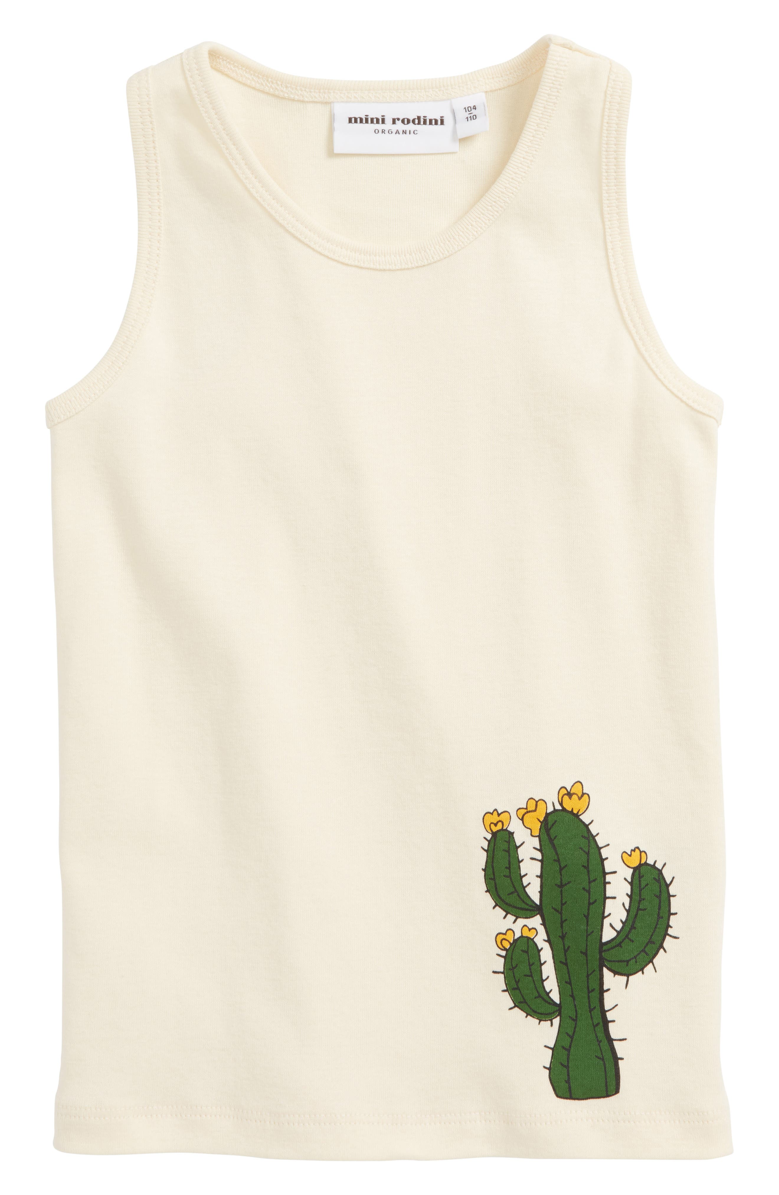 Cactus Organic Cotton Tank,                         Main,                         color, Off White