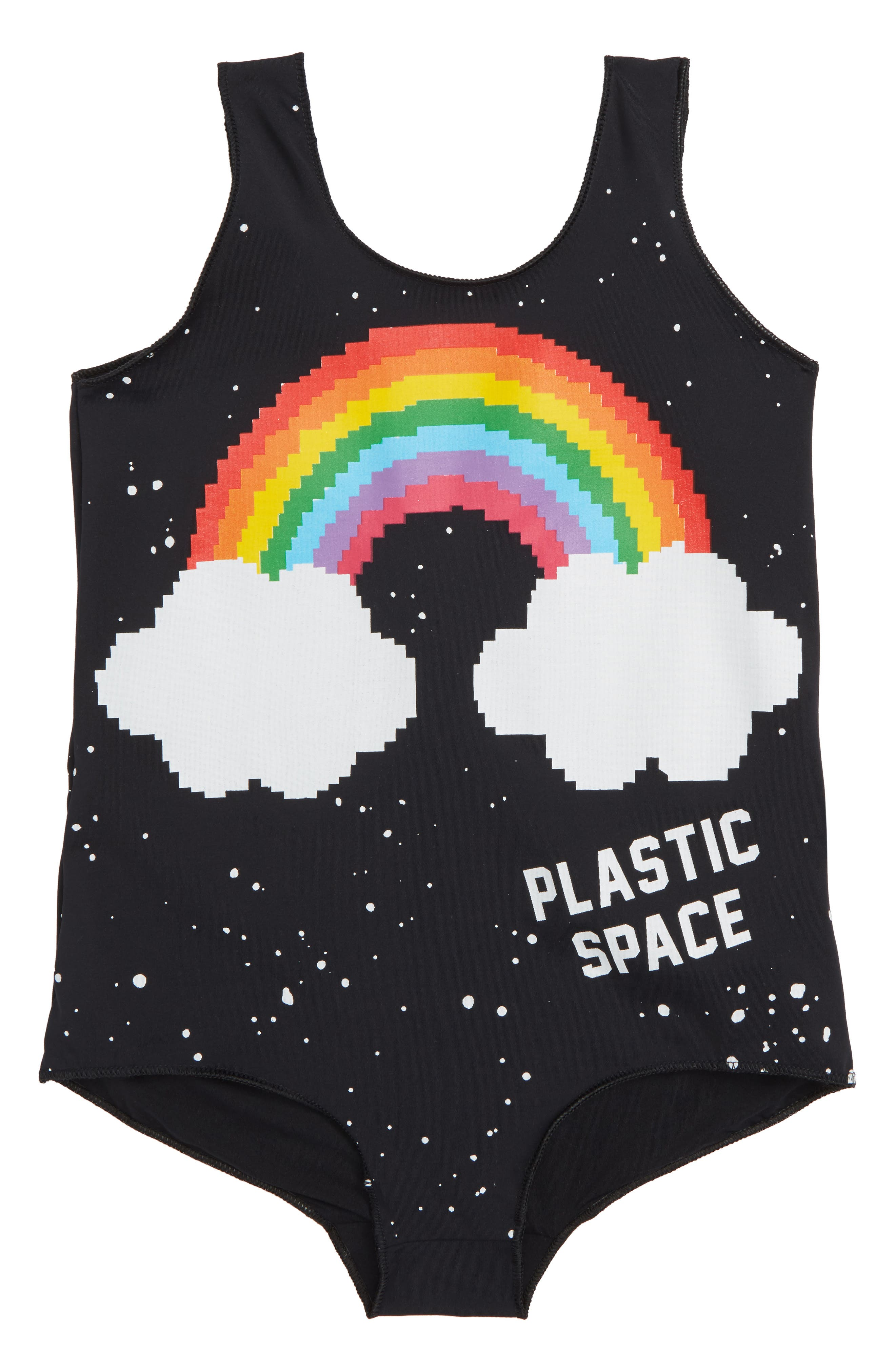 Plastic Jus Rainbow One-Piece Swimsuit (Toddler Girls, Little Girls & Big Girls)