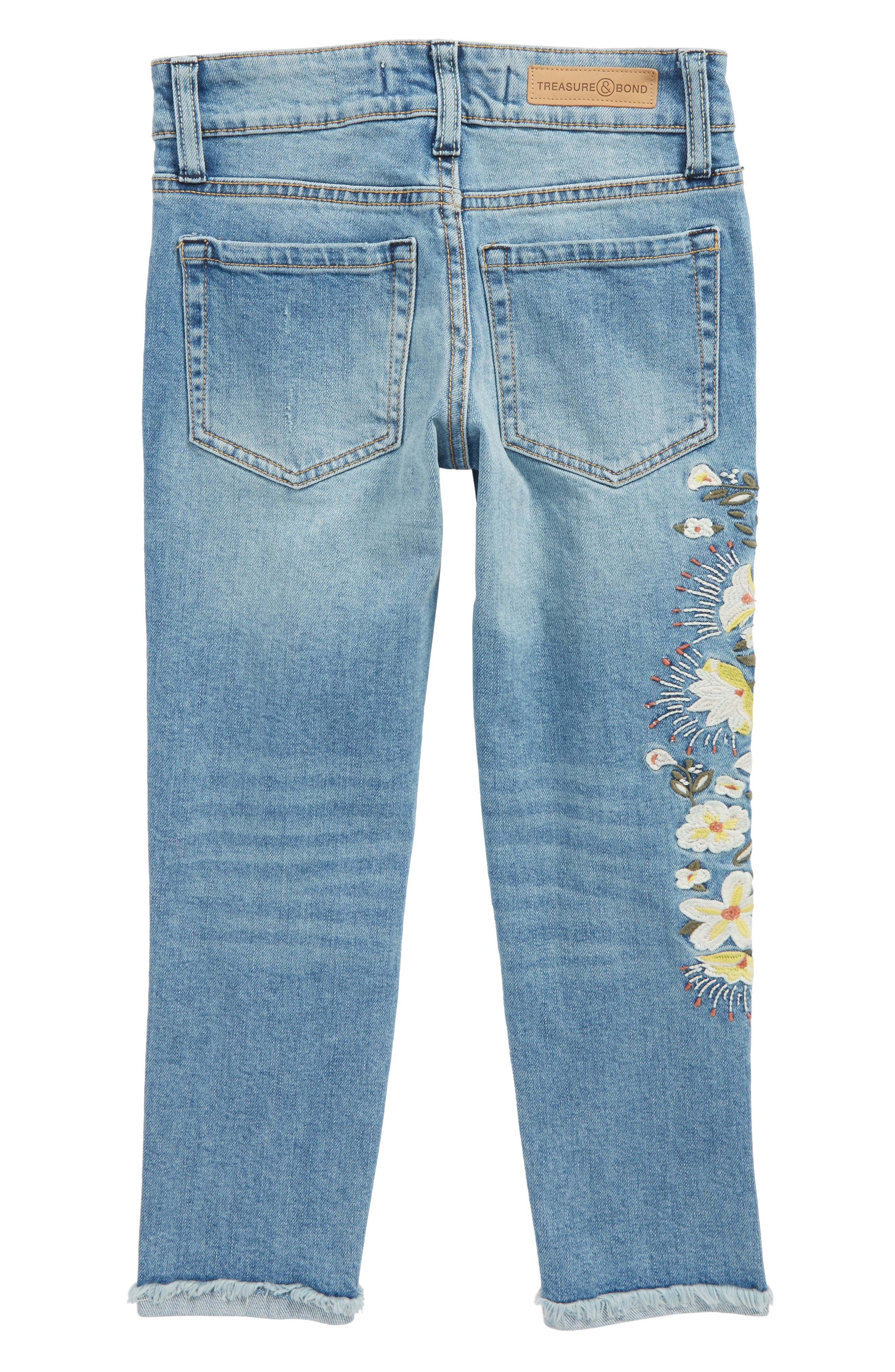 Embellished Jeans,                             Alternate thumbnail 2, color,                             Sunbleached Wash