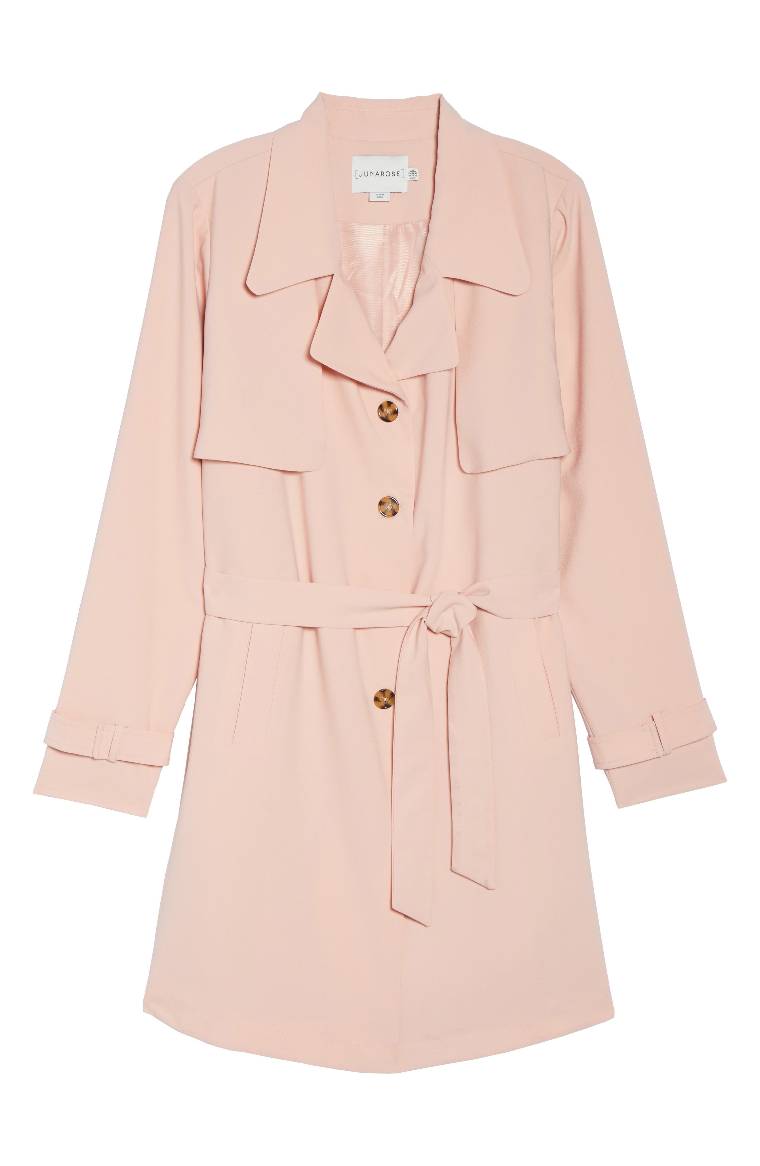 Marina Trench Coat,                             Alternate thumbnail 6, color,                             Coral Cloud