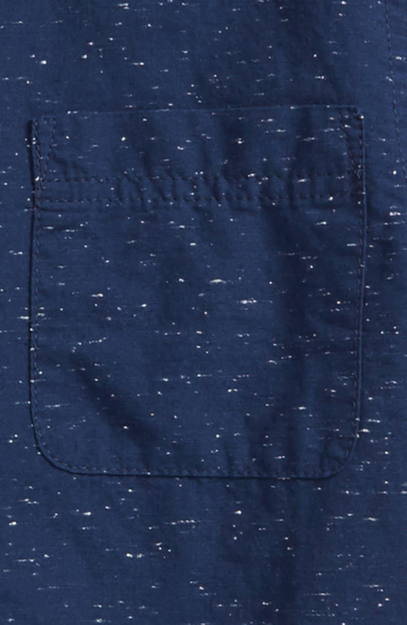 Slub Woven Shirt,                             Alternate thumbnail 2, color,                             Navy Denim