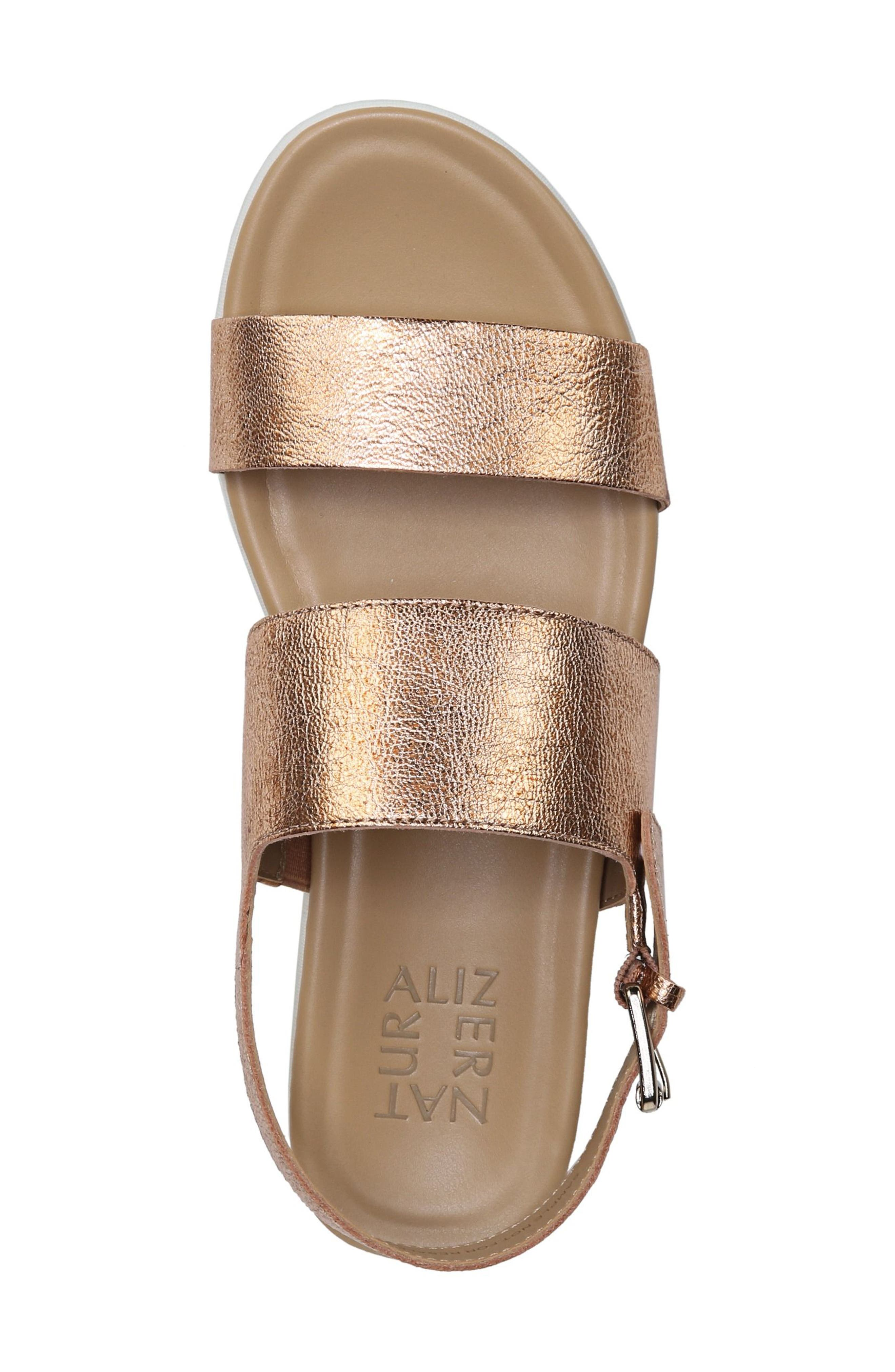 Emory Wedge Sandal,                             Alternate thumbnail 5, color,                             Copper Leather