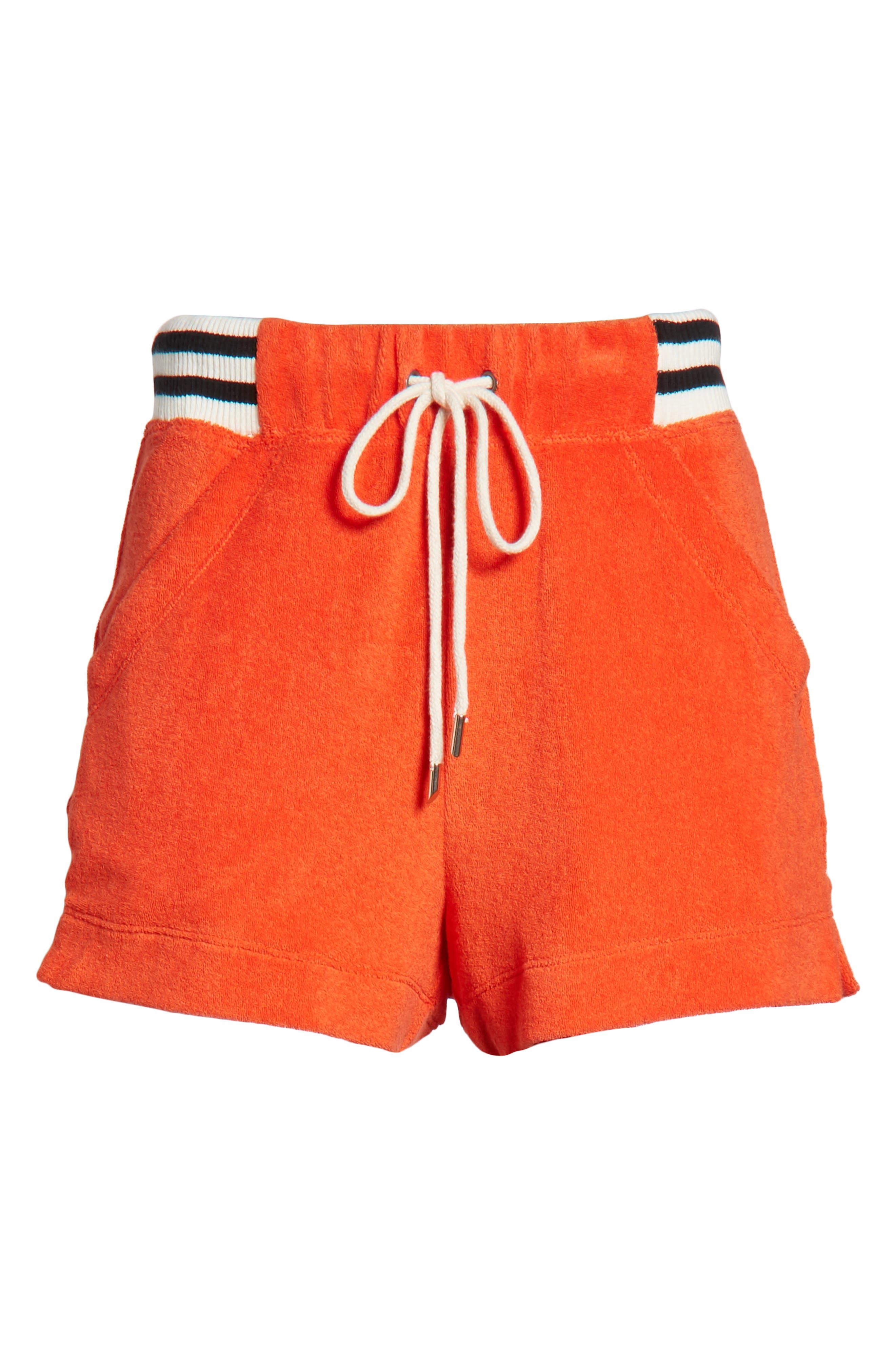 x Margherita Sportivo French Terry Shorts,                             Alternate thumbnail 6, color,                             Red
