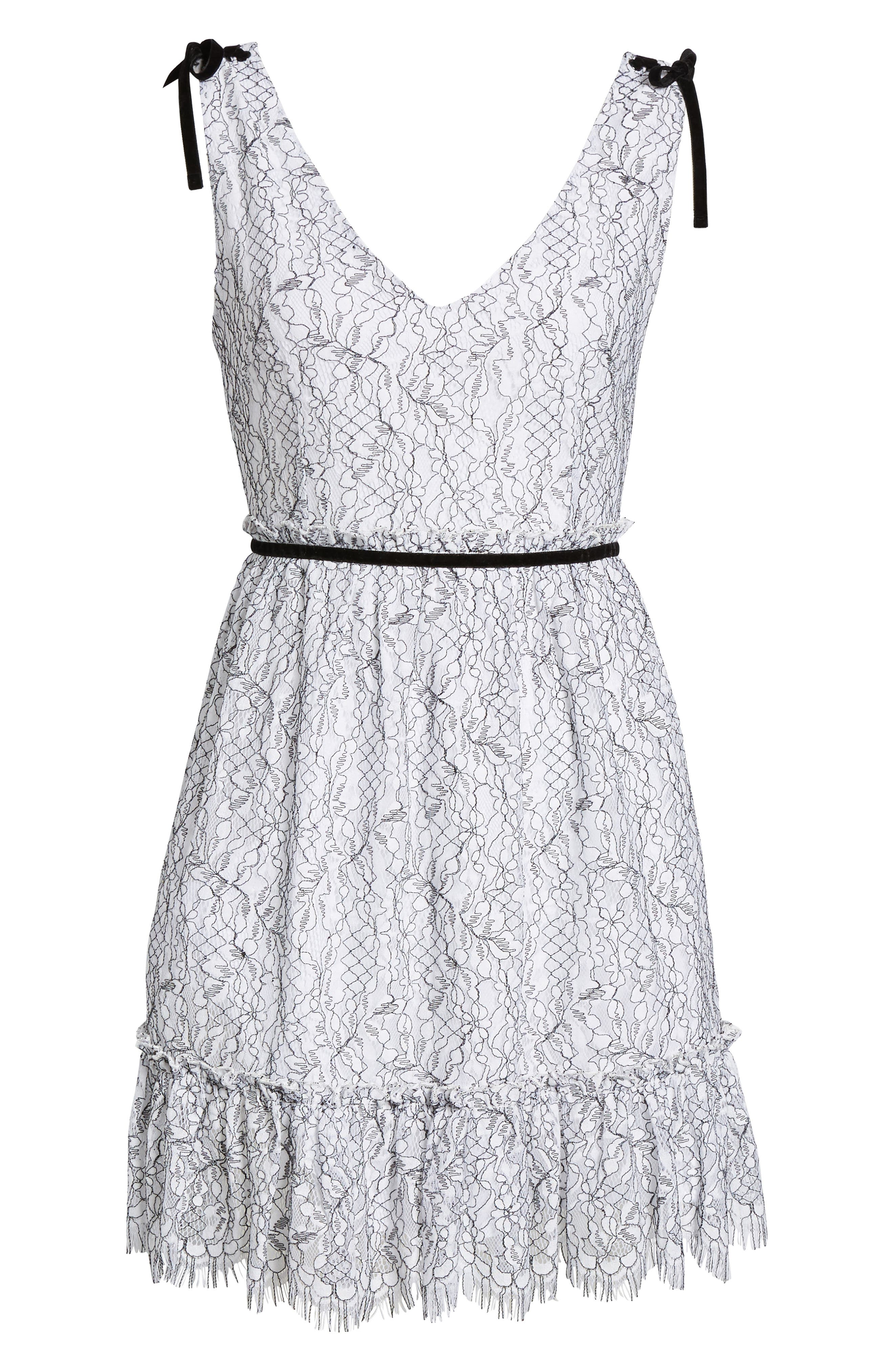 Ezzy Lace Dress,                             Alternate thumbnail 6, color,                             Ivory