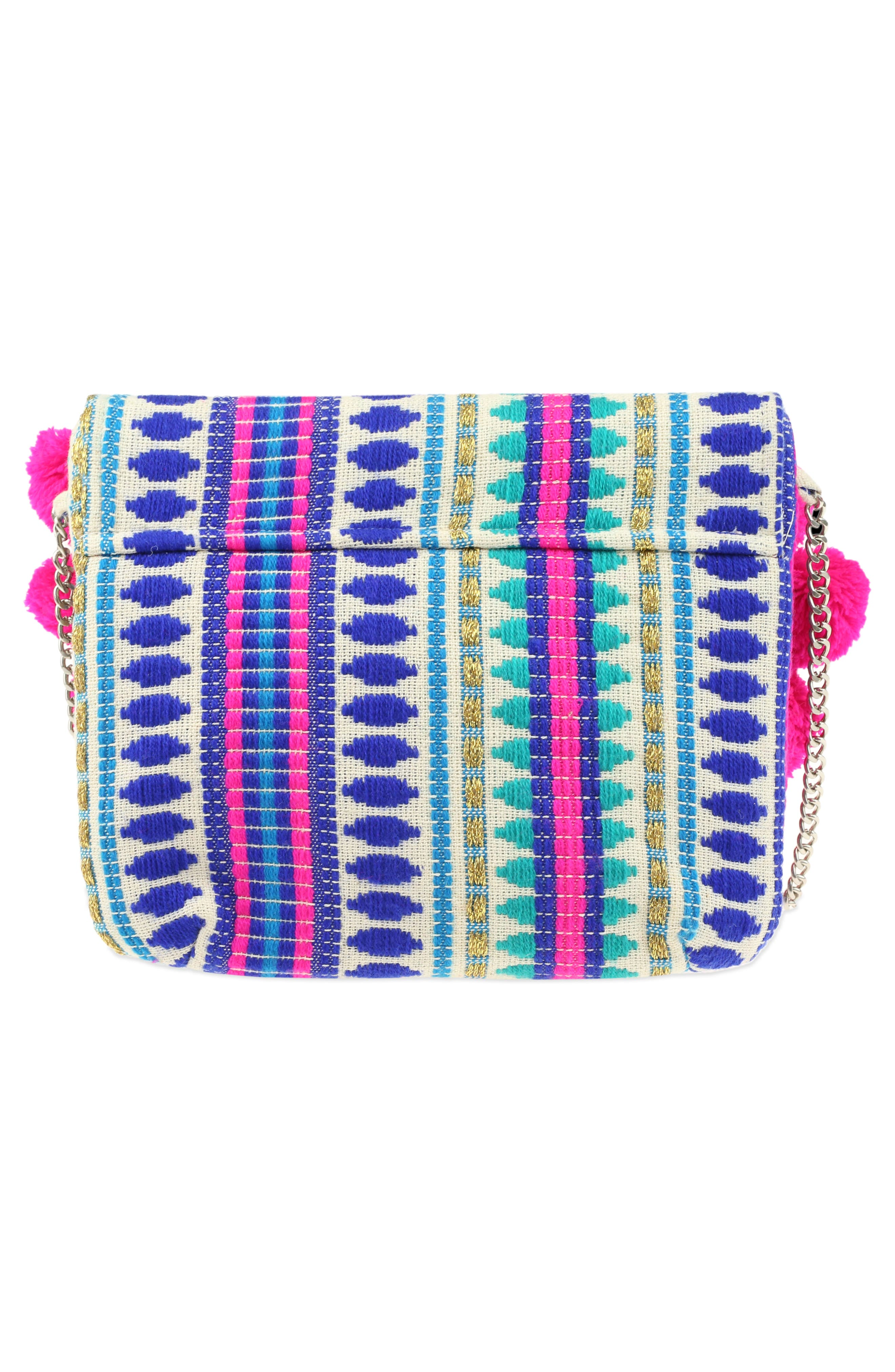 Embroidered Crossbody Bag,                             Alternate thumbnail 2, color,                             Turquoise Combo