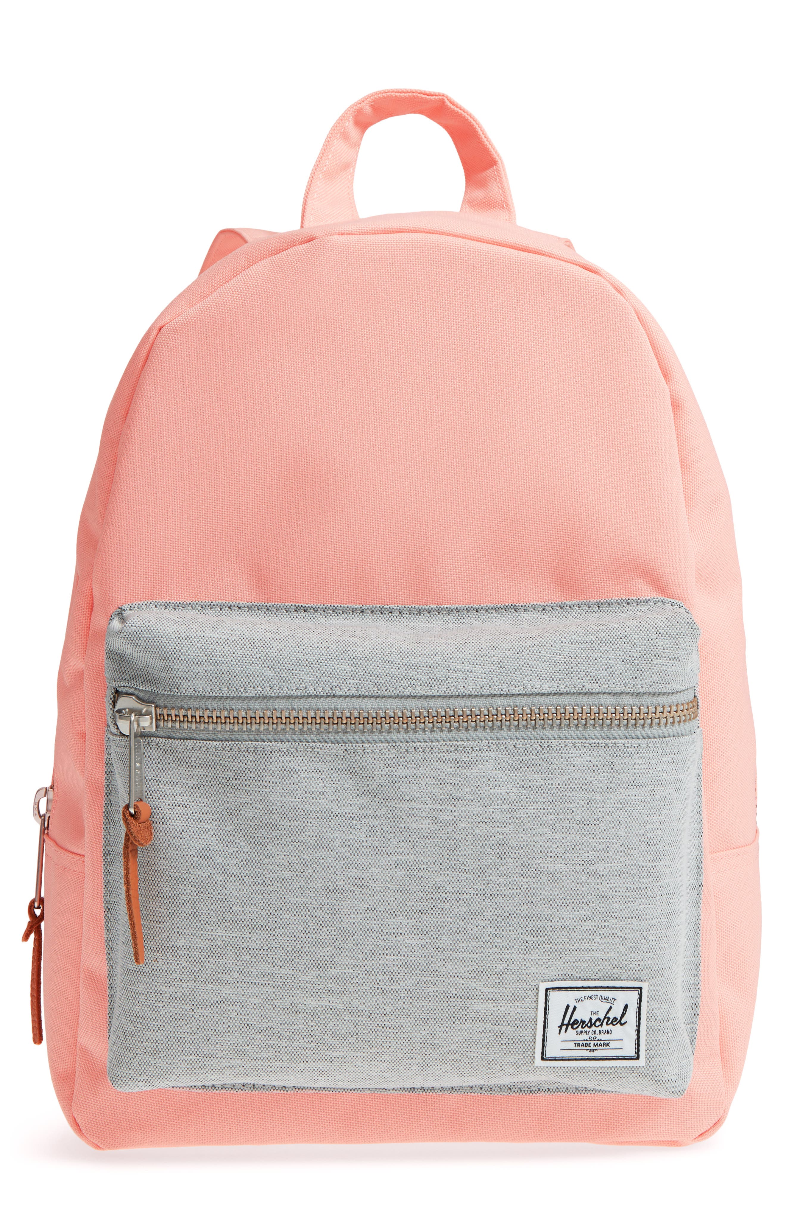 X-Small Grove Canvas Backpack,                             Main thumbnail 1, color,                             Peach/ Light Grey
