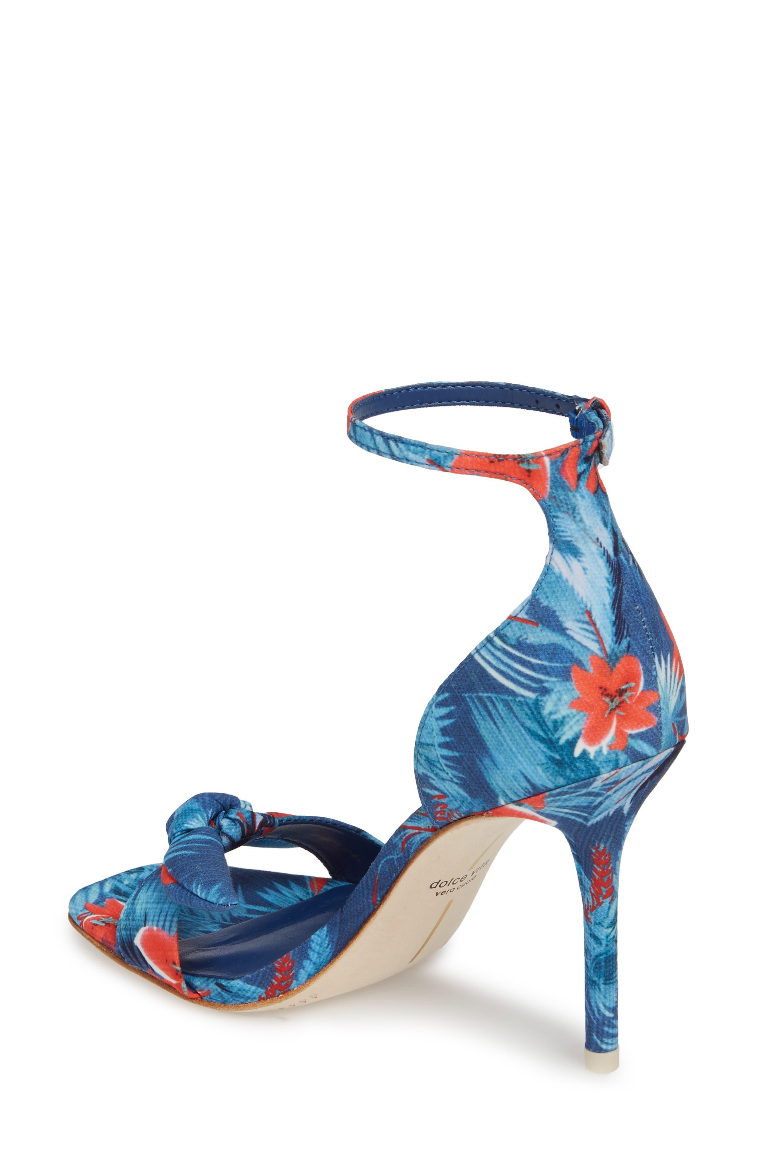 Helana Knotted Sandal,                             Alternate thumbnail 2, color,                             Blue Multi