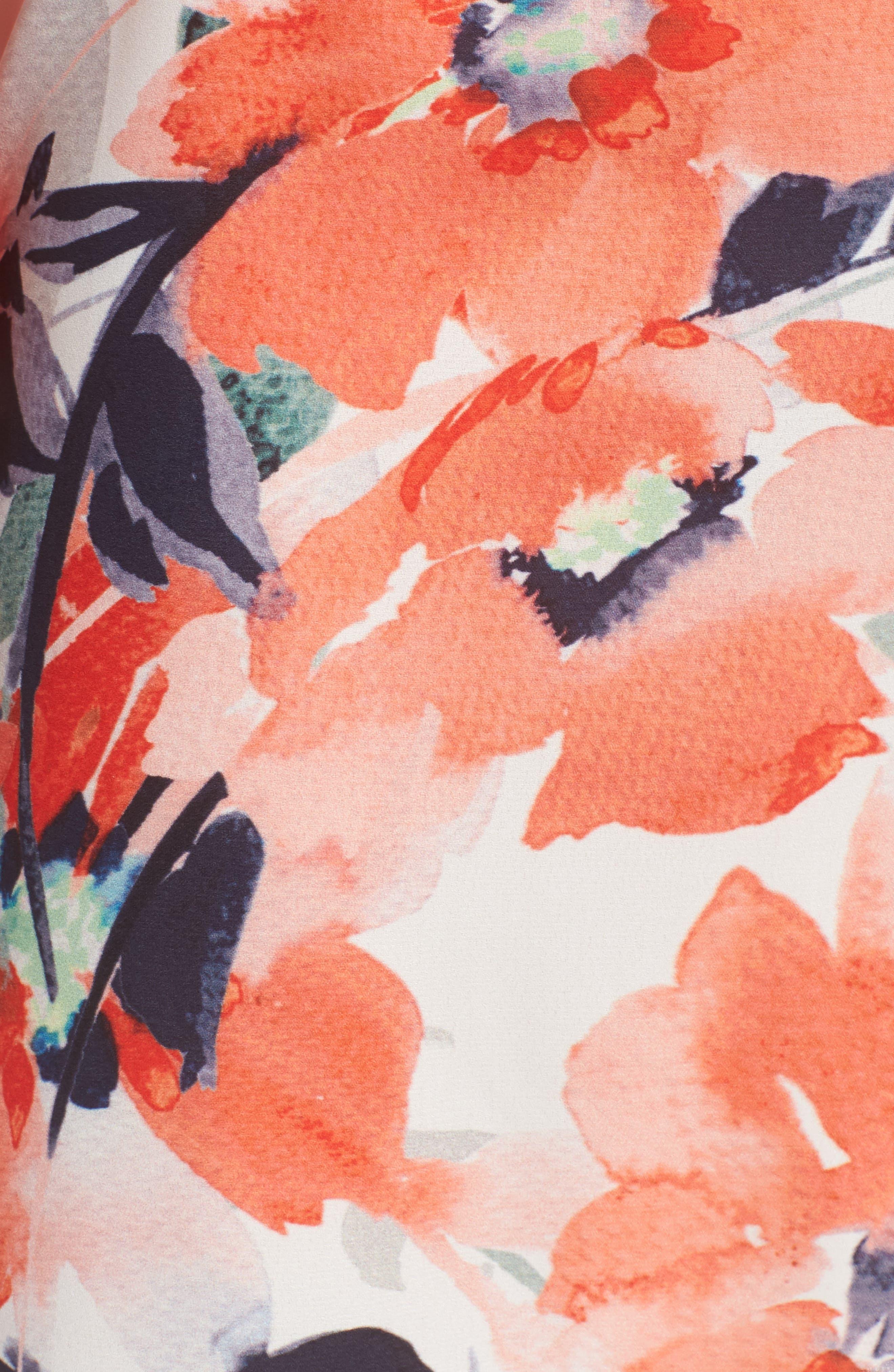 Bishop + Young Chrissy Cold Shoulder Dress,                             Alternate thumbnail 5, color,                             Print