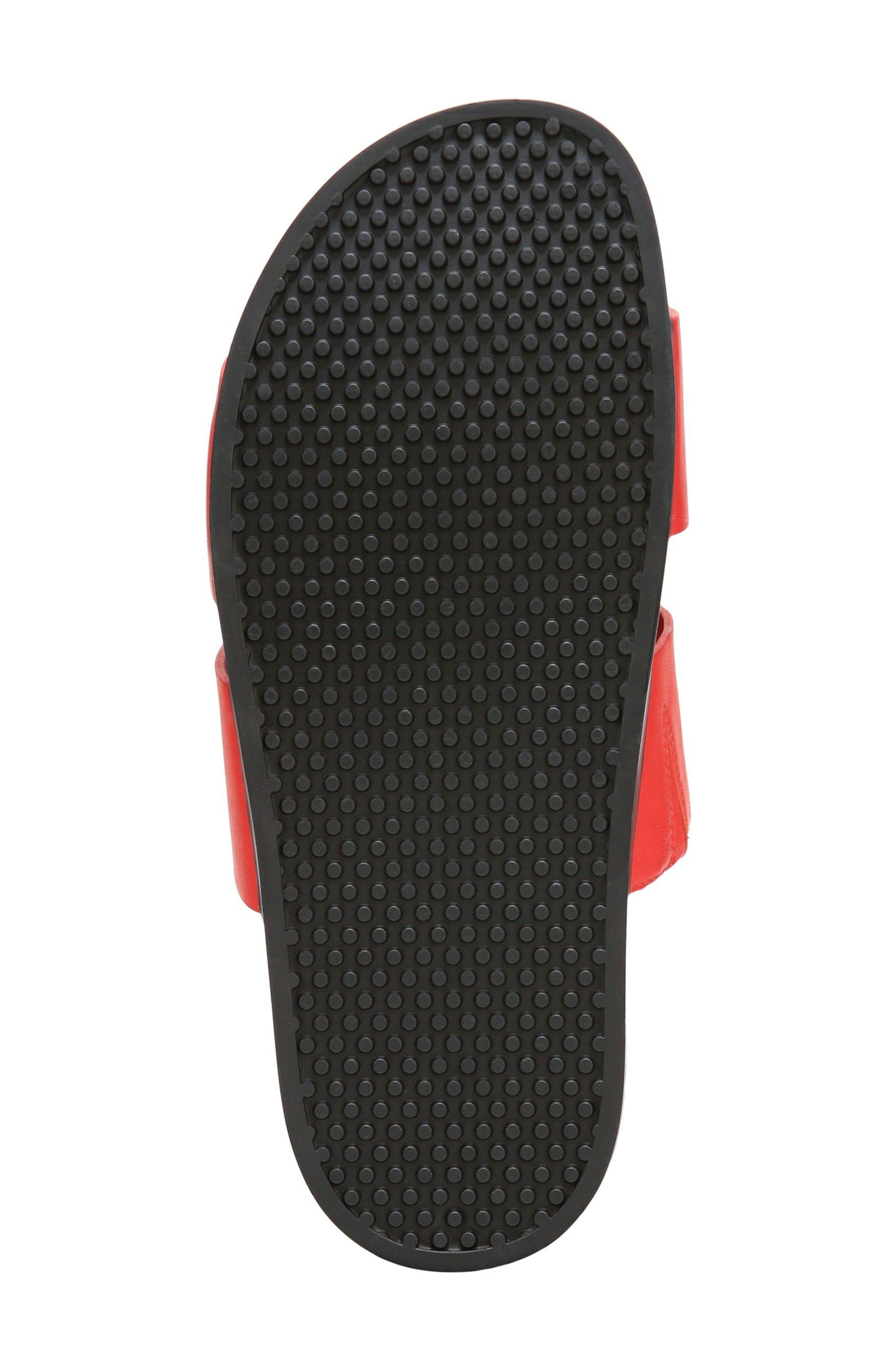 Milton Slide Sandal,                             Alternate thumbnail 6, color,                             Poppy Red Leather