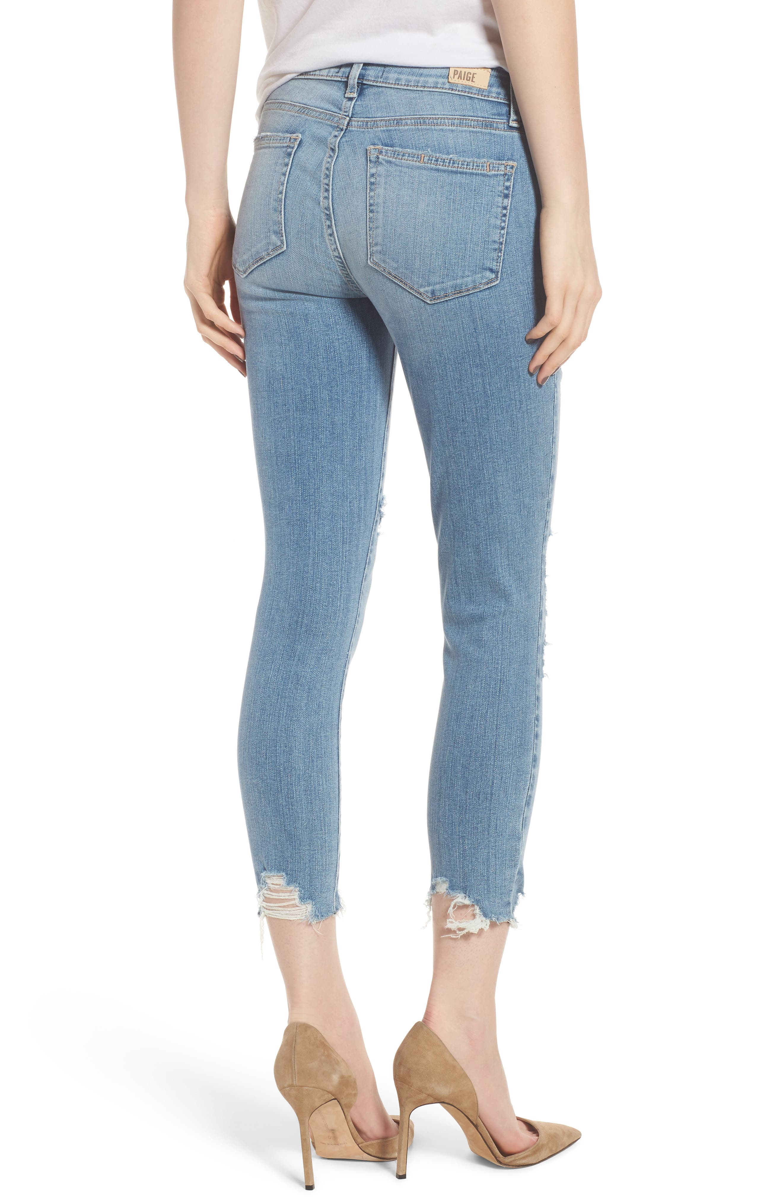 Verdugo Ripped Crop Ultra Skinny Jeans,                             Alternate thumbnail 2, color,                             Janis Destructed