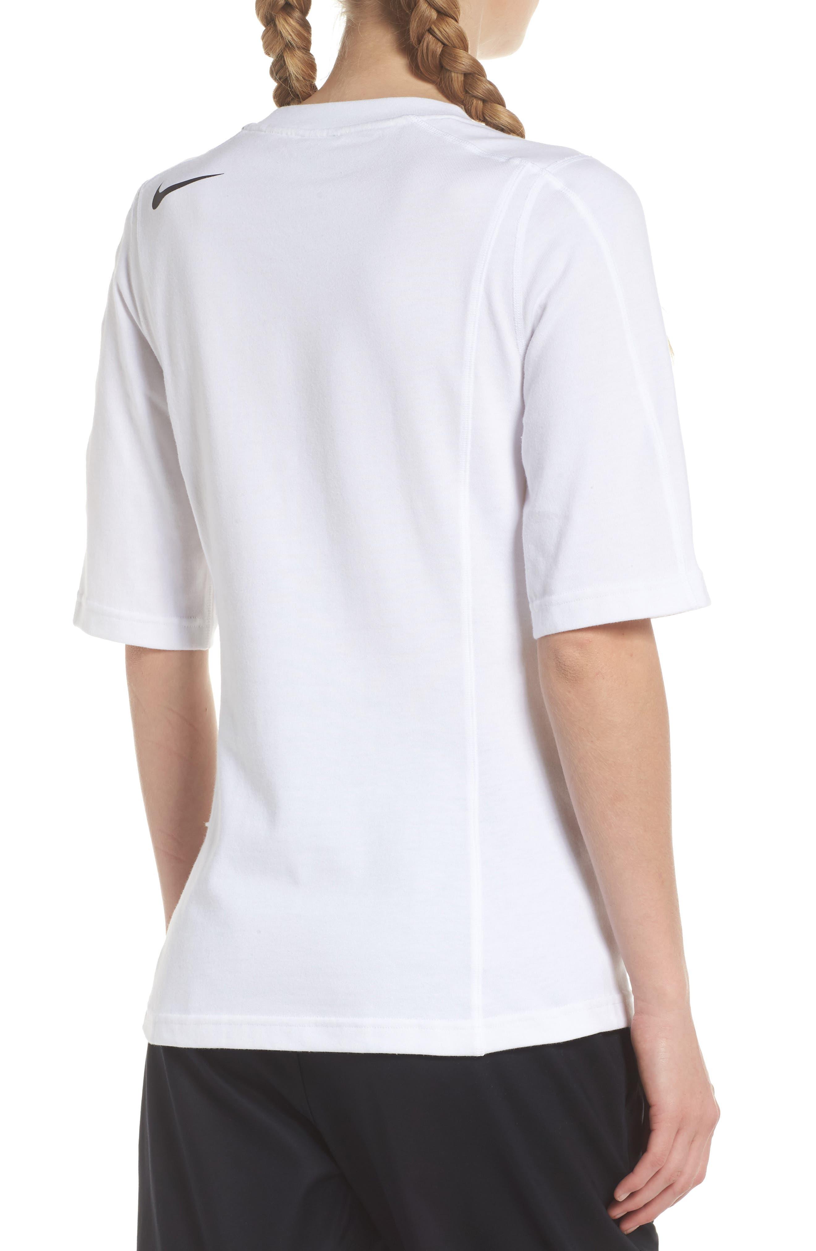 NikeLab AGC Tee,                             Alternate thumbnail 2, color,                             White/ Black