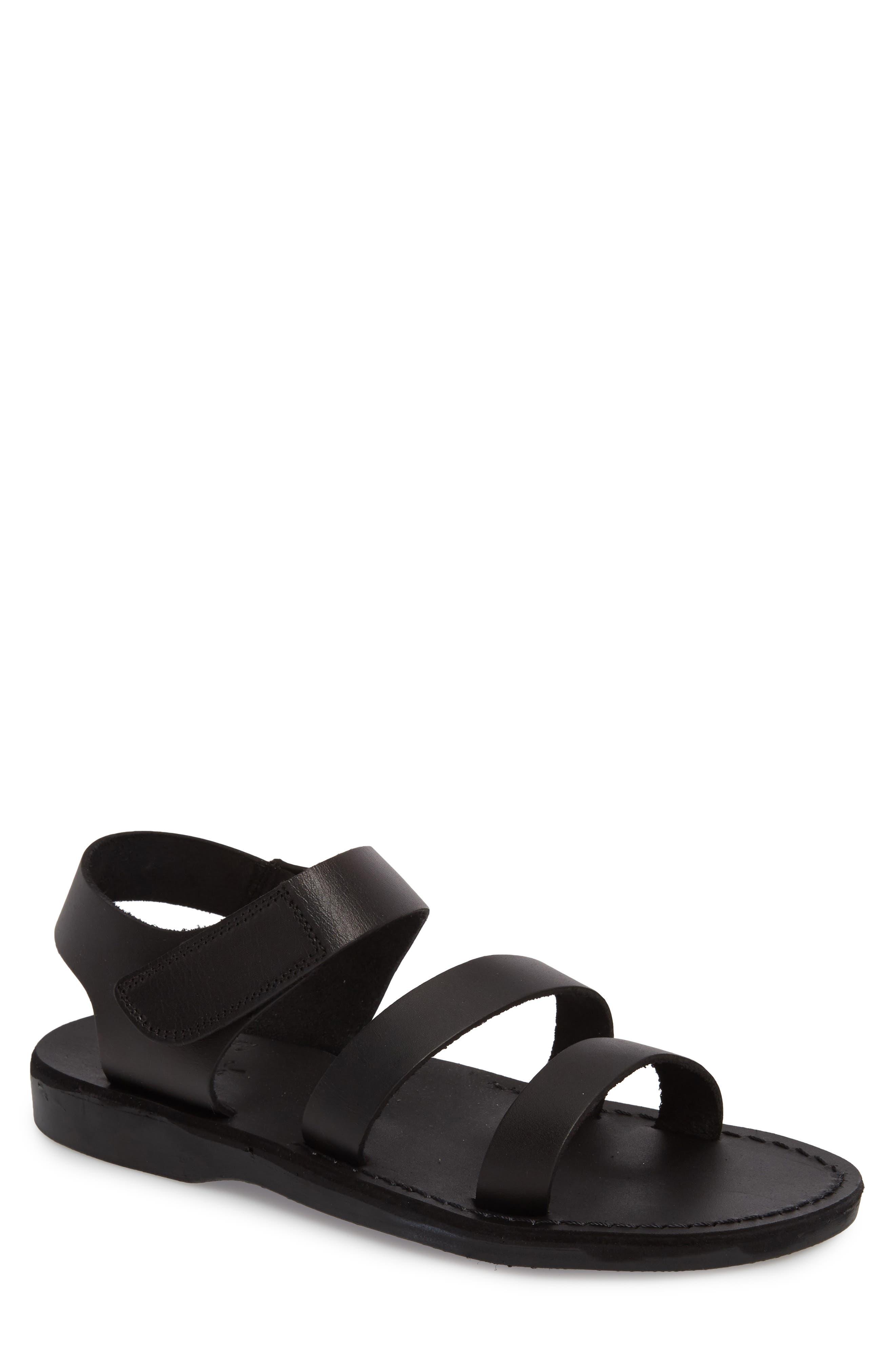 Jared Sandal,                         Main,                         color, Black Leather