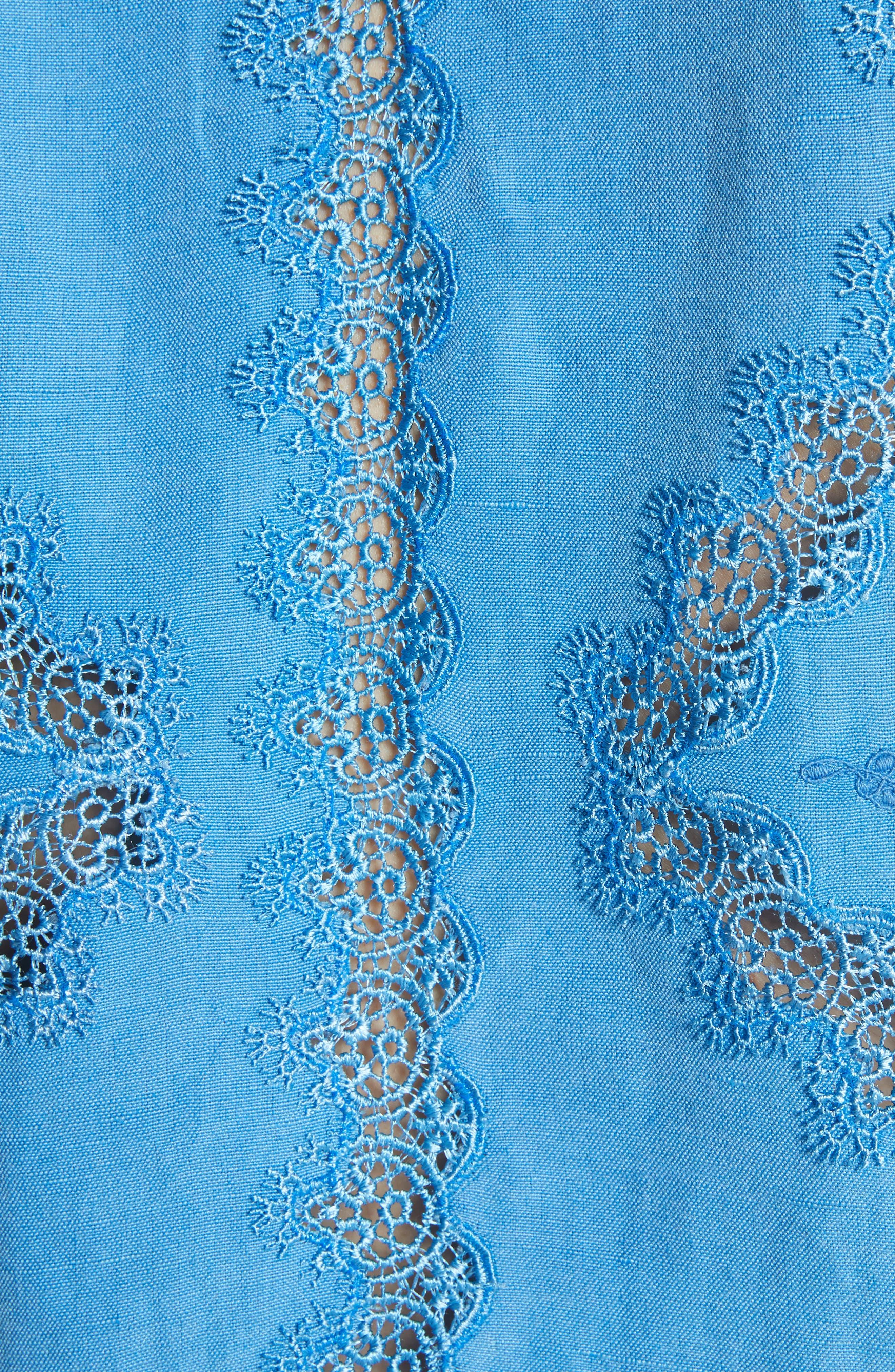 Alternate Image 5  - Alice + Olivia Hilma Embroidered Blouson Sleeve Blouse