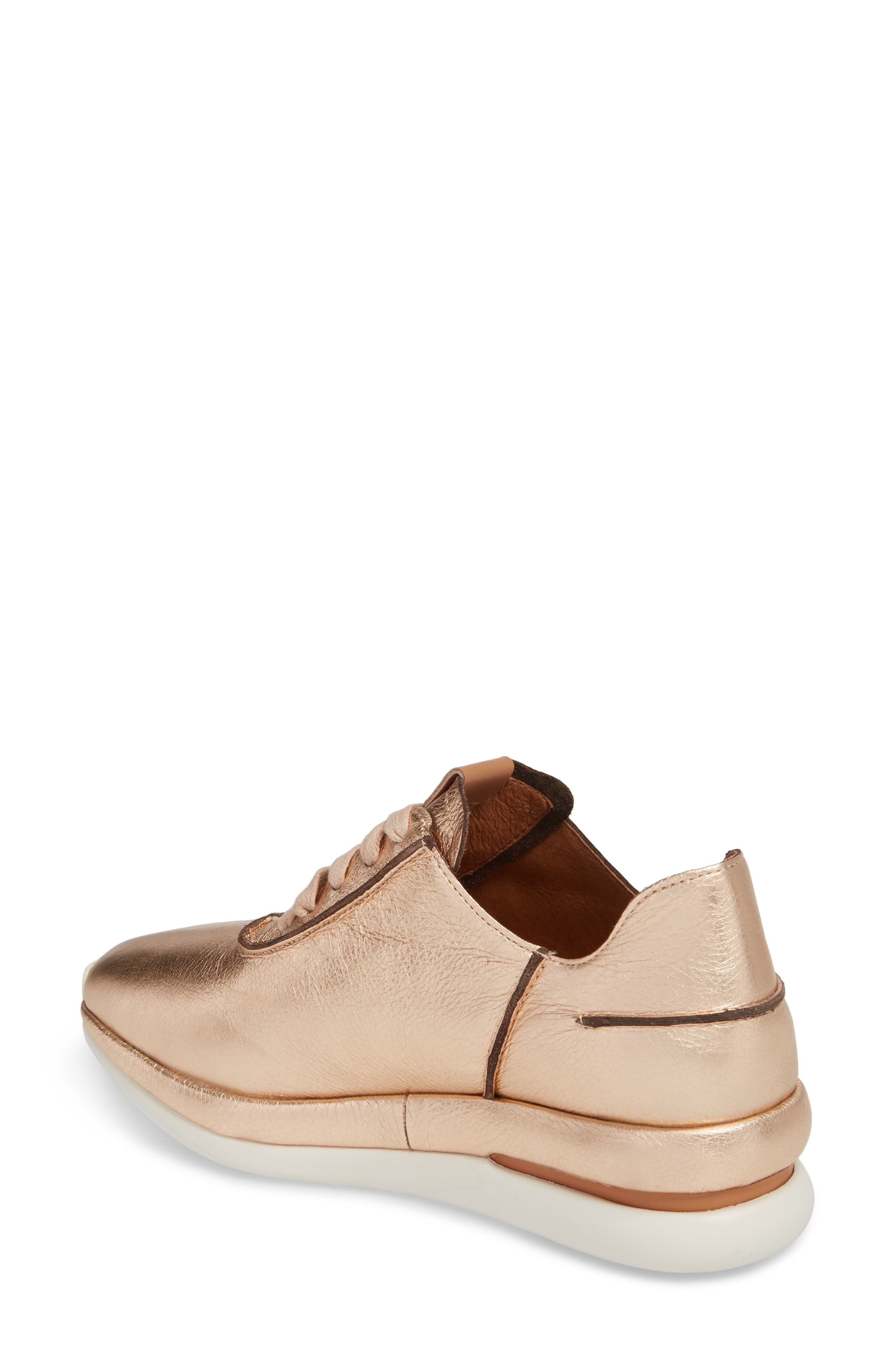 by Kenneth Cole Raina Sneaker,                             Alternate thumbnail 2, color,                             Rose Gold Metallic Leather
