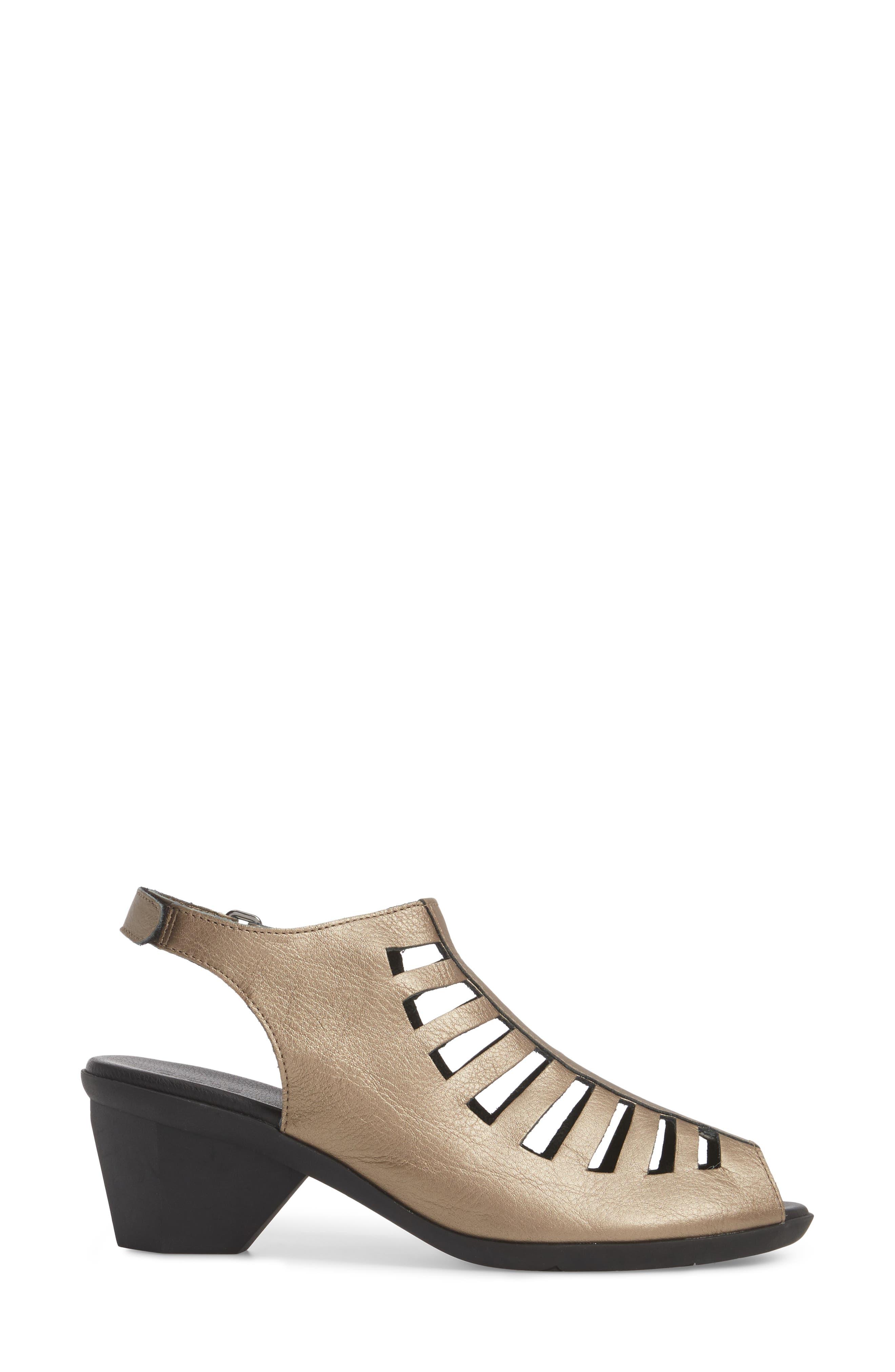 Enexor Sandal,                             Alternate thumbnail 3, color,                             Moon/ Noir Leather