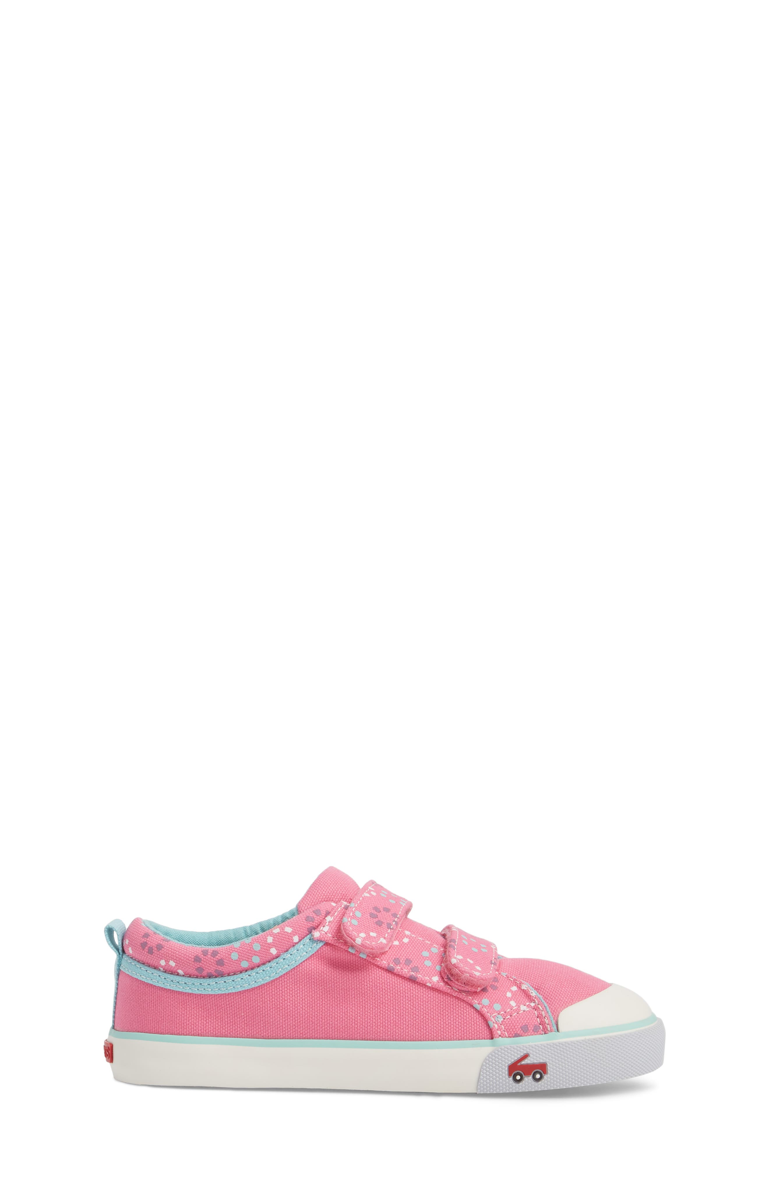 'Robyne' Sneaker,                             Alternate thumbnail 3, color,                             Hot Pink Circle Mix