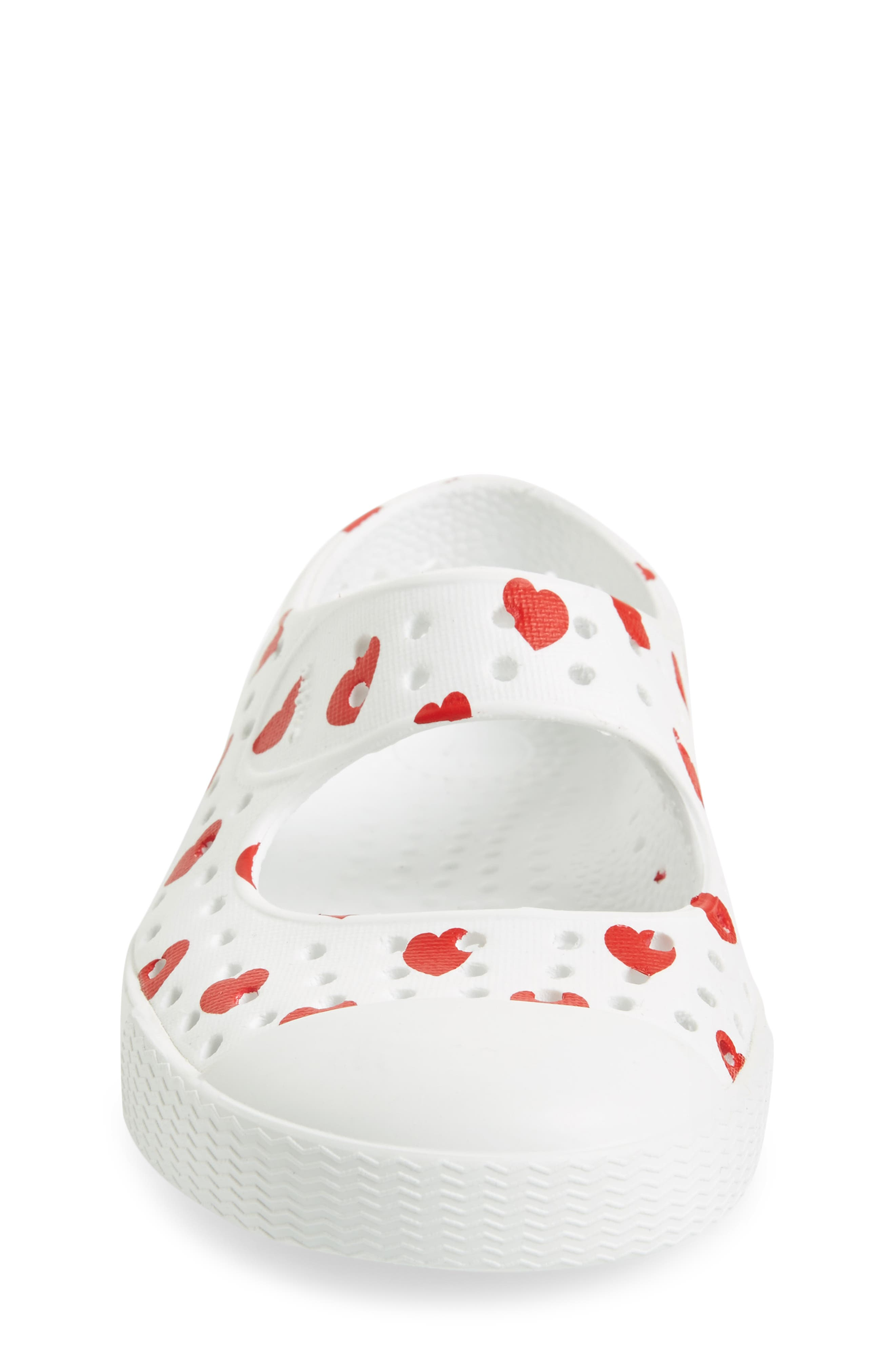 Native Juniper Print Perforated Mary Jane,                             Alternate thumbnail 4, color,                             Shell White/ Torch Blue Heart