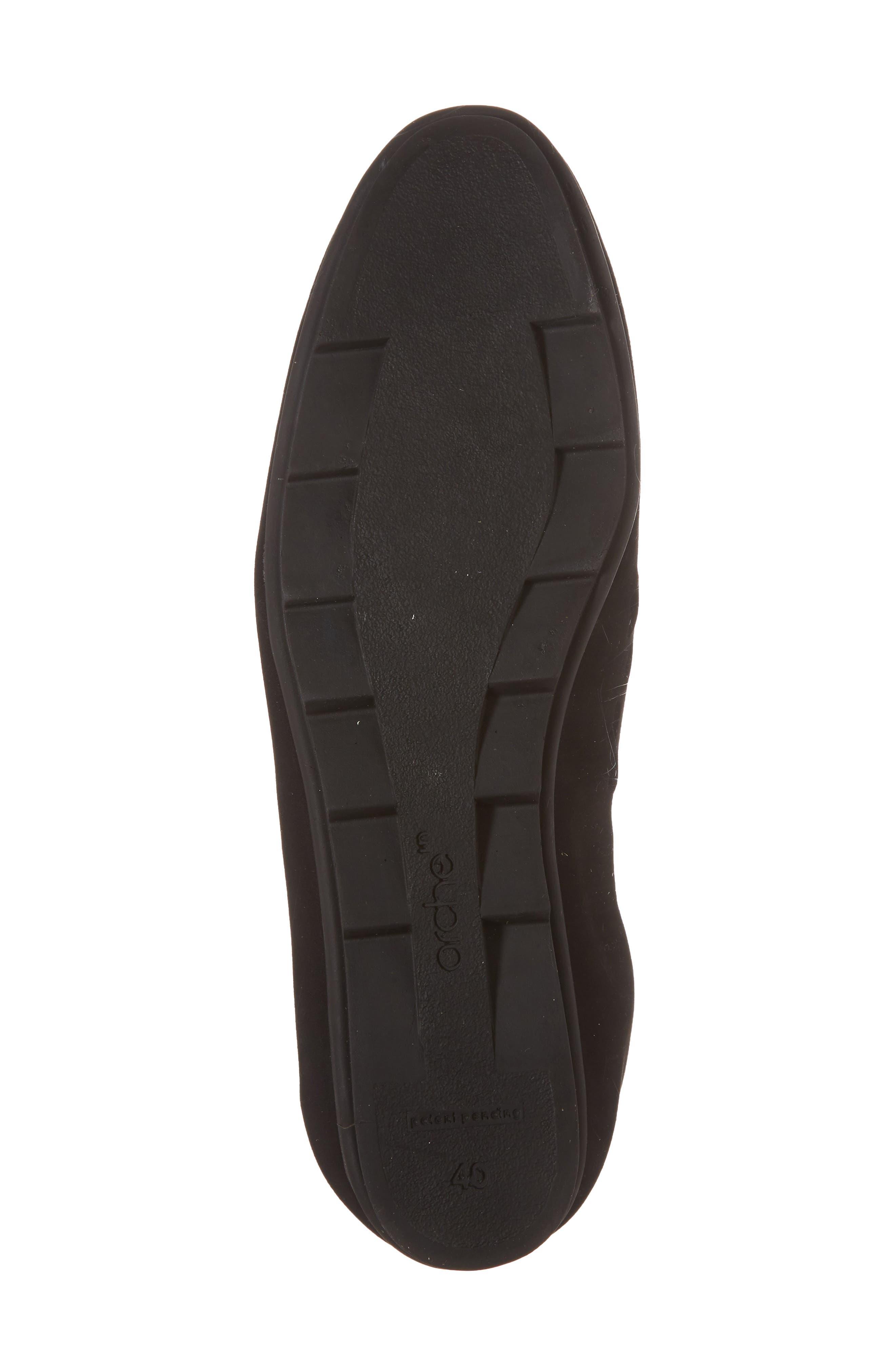 Bibiza Flat,                             Alternate thumbnail 6, color,                             Noir Nubuck Leather