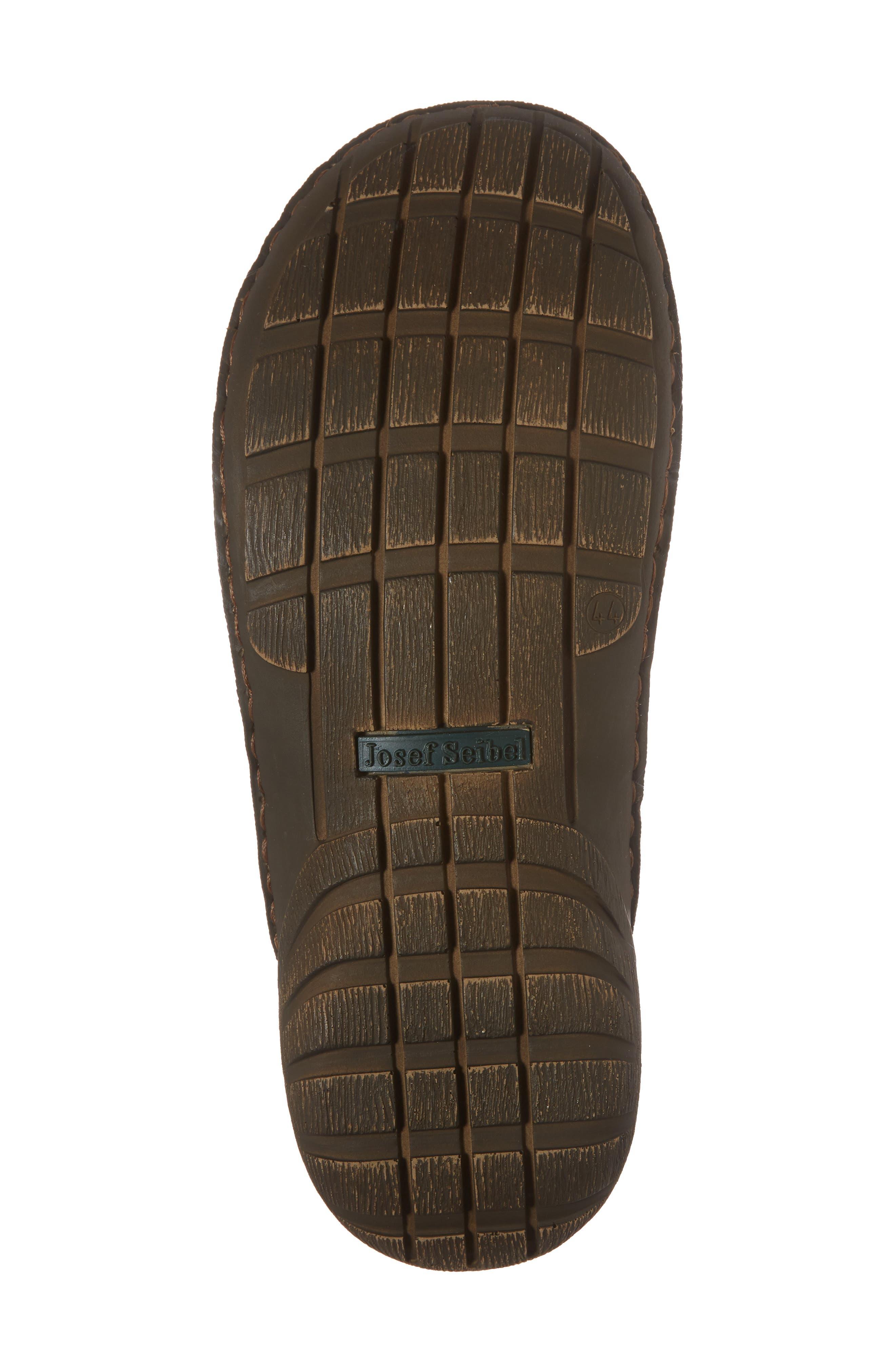 Logan Flip Flop,                             Alternate thumbnail 6, color,                             Brown Leather