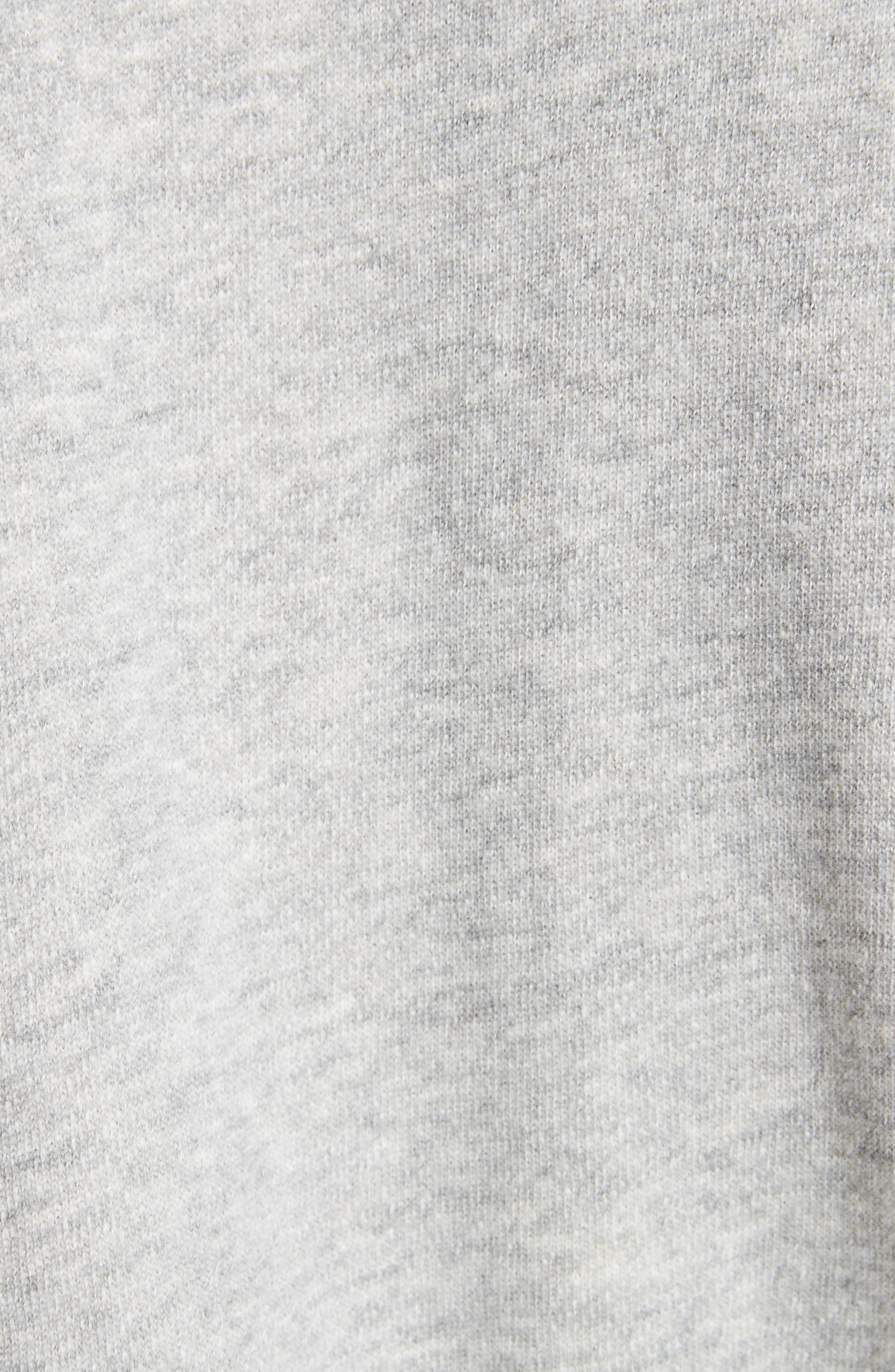 Christal Puff Sleeve Sweatshirt,                             Alternate thumbnail 5, color,                             Heather Grey