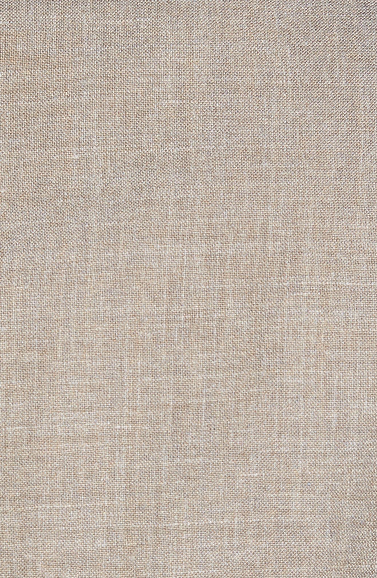 Trim Fit Wool Blend Blazer,                             Alternate thumbnail 5, color,                             Tan