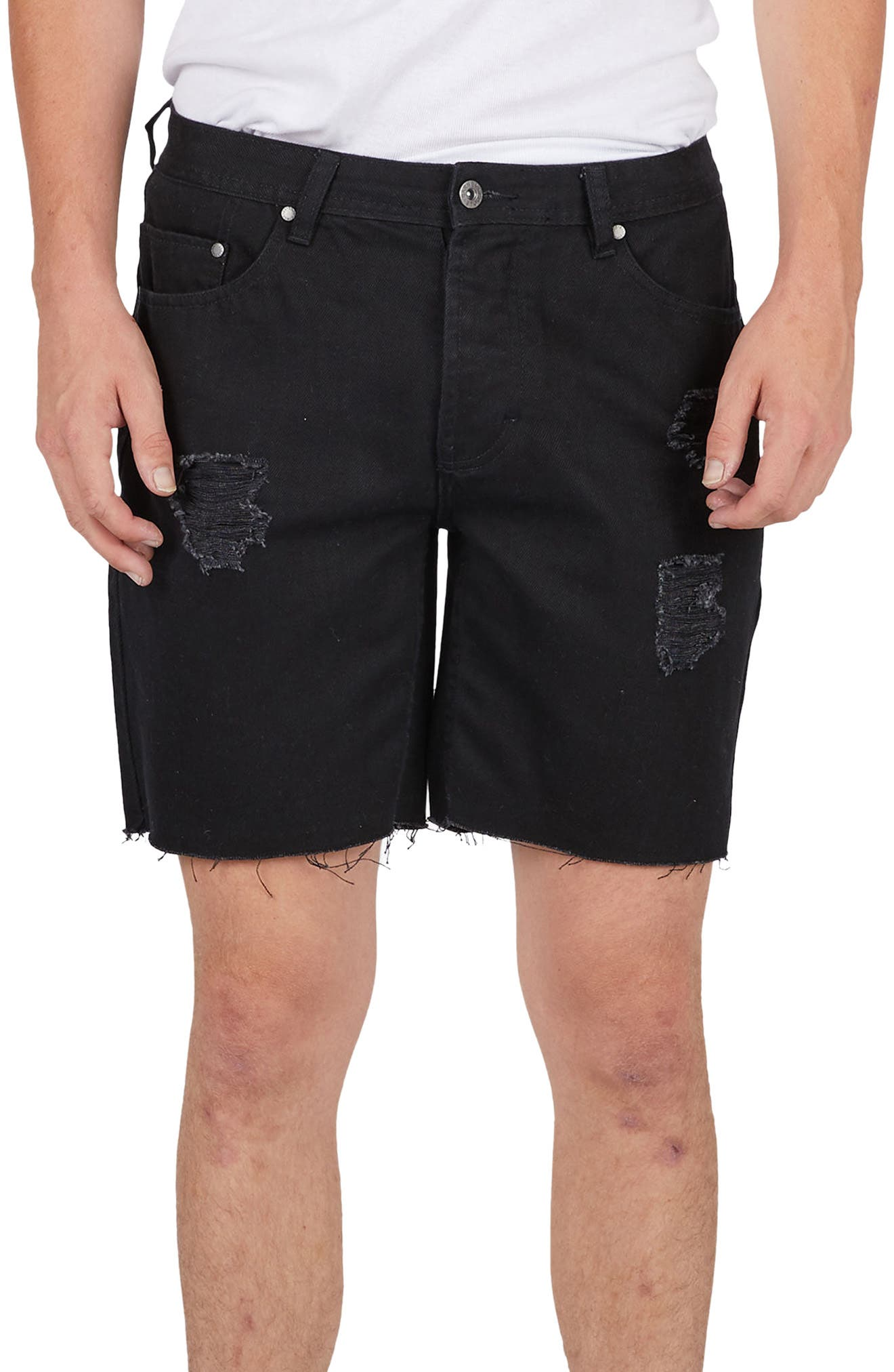 Barney Cools B. Line Denim Shorts (Thrashed Black)