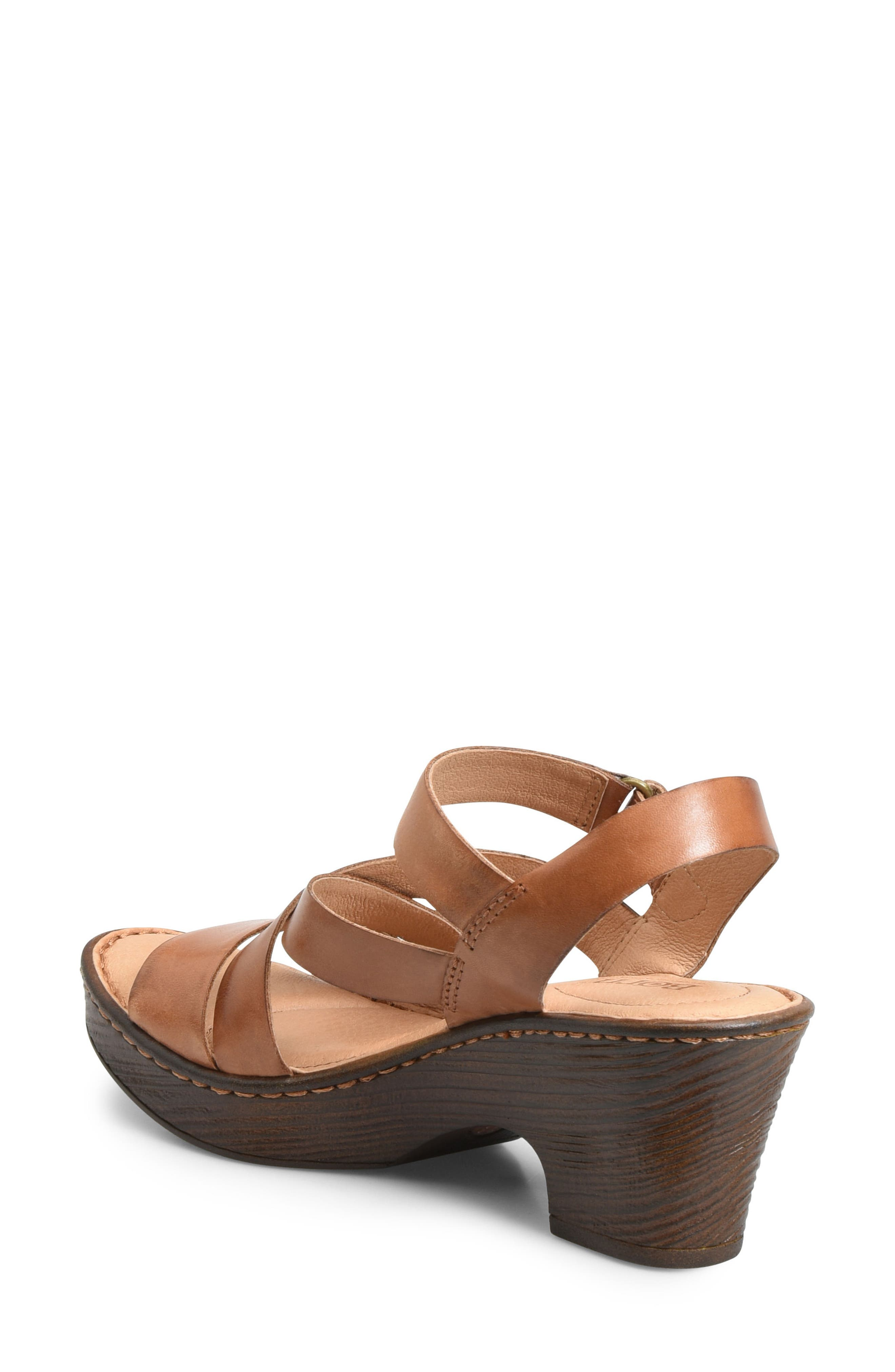Cubera Platform Sandal,                             Alternate thumbnail 2, color,                             Brown Leather