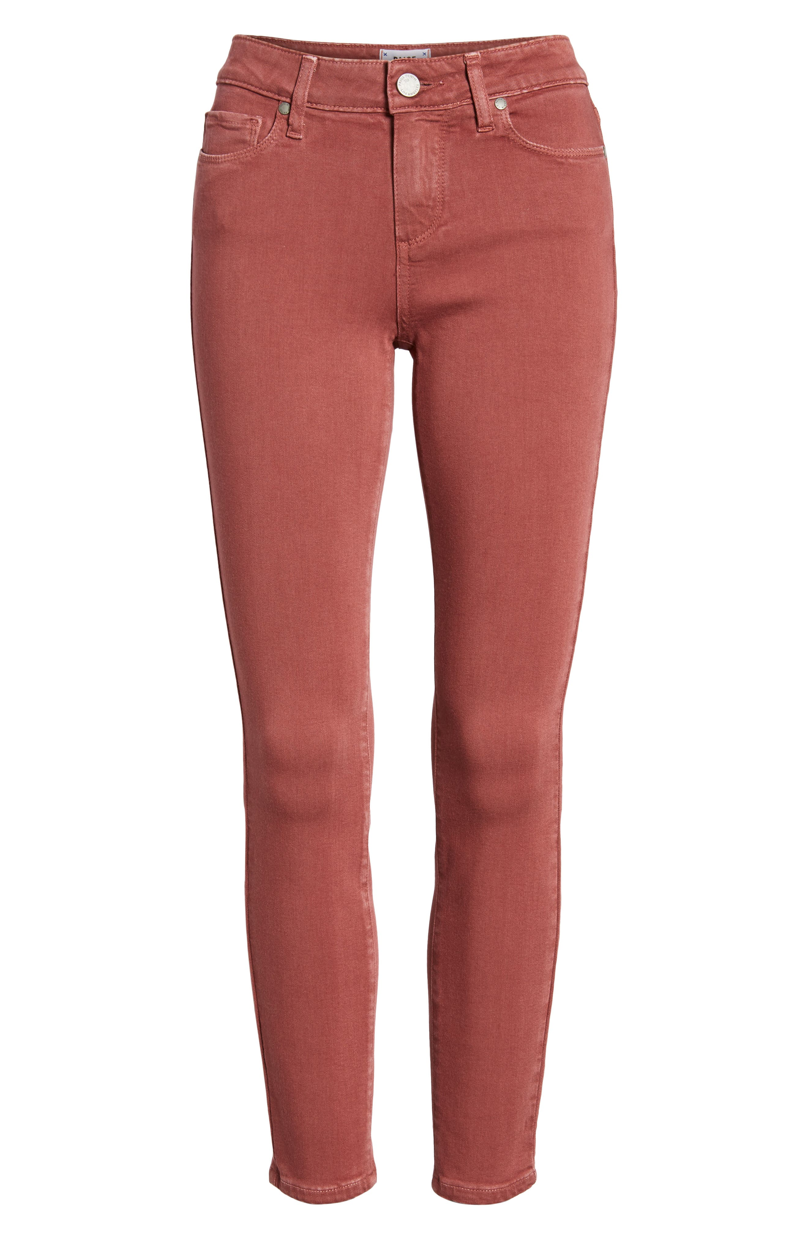 Alternate Image 6  - PAIGE Verdugo Ankle Ultra Skinny Jeans (Vintage Dark Rose)