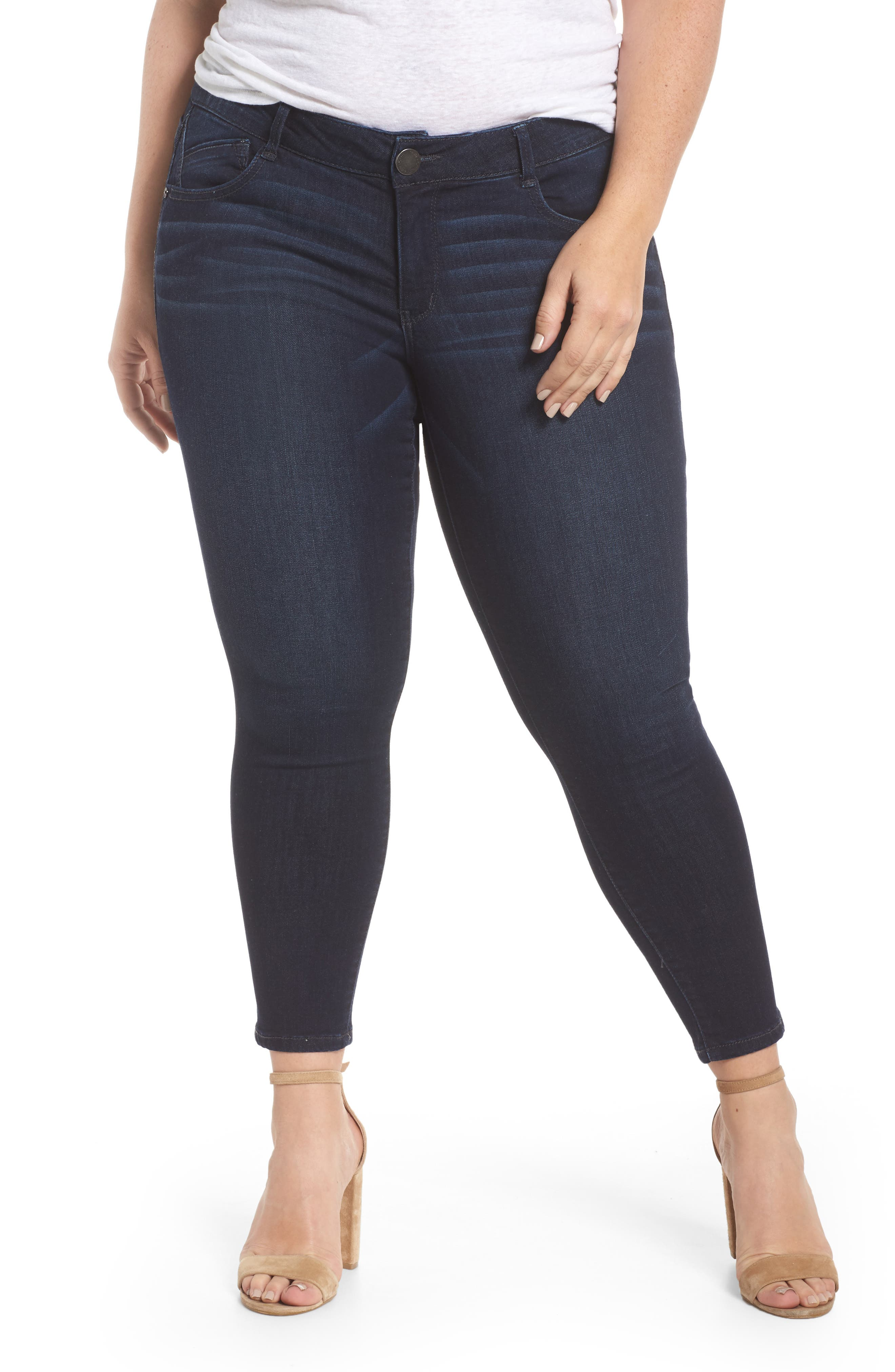 Ab-solution Luxe Touch Ankle Skinny Jeans,                             Main thumbnail 1, color,                             In-Indigo