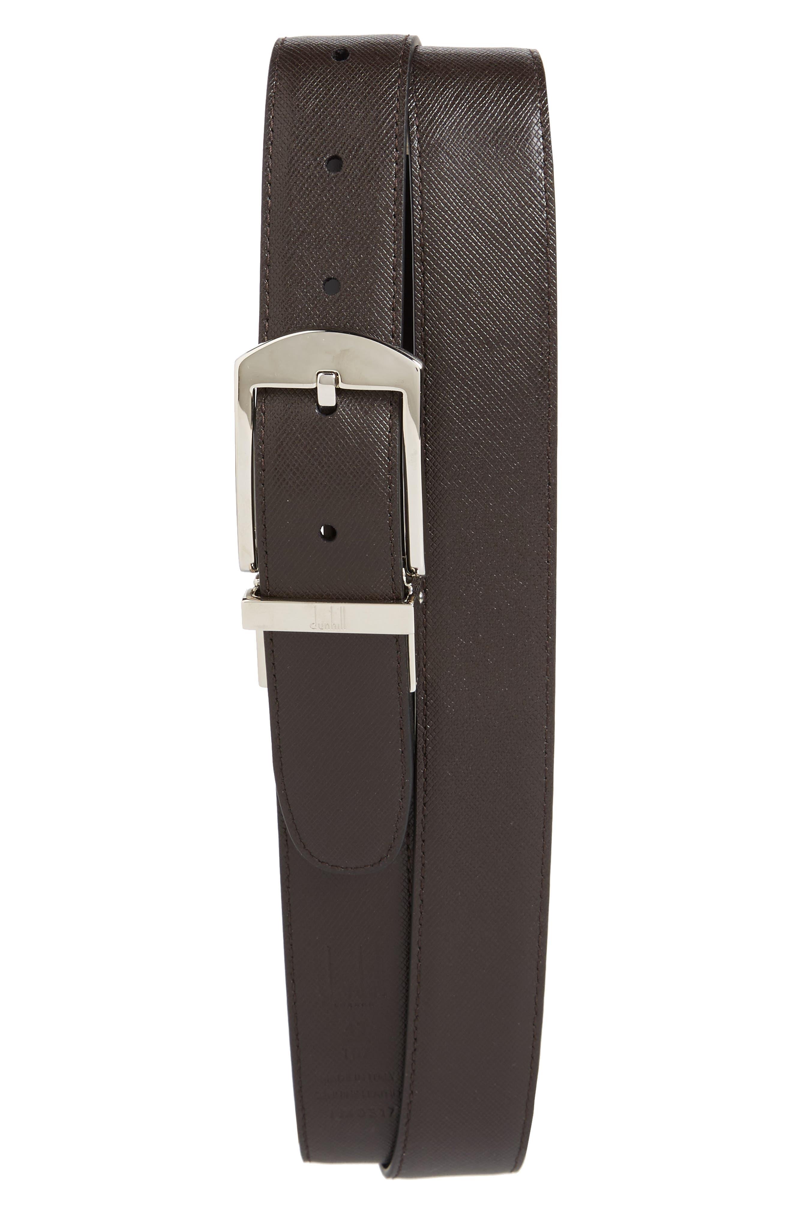 Classic Leather Belt,                             Alternate thumbnail 2, color,                             Black