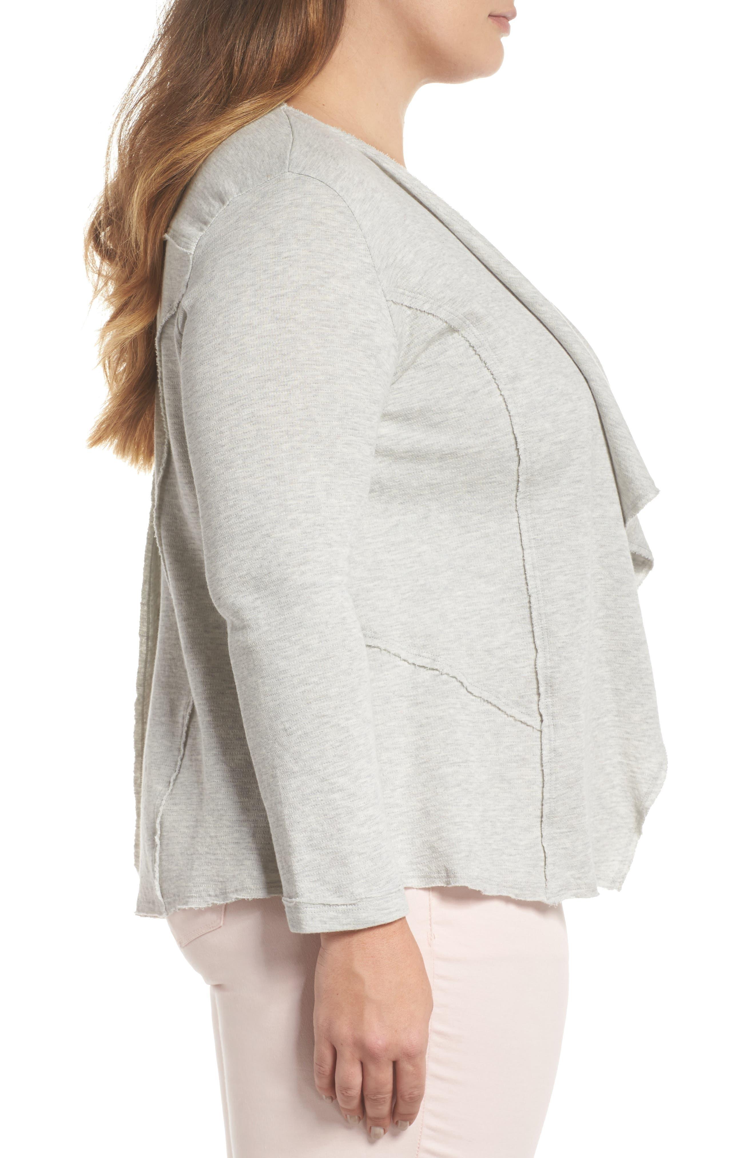 Alternate Image 3  - Caslon® Knit Drape Jacket (Plus Size)