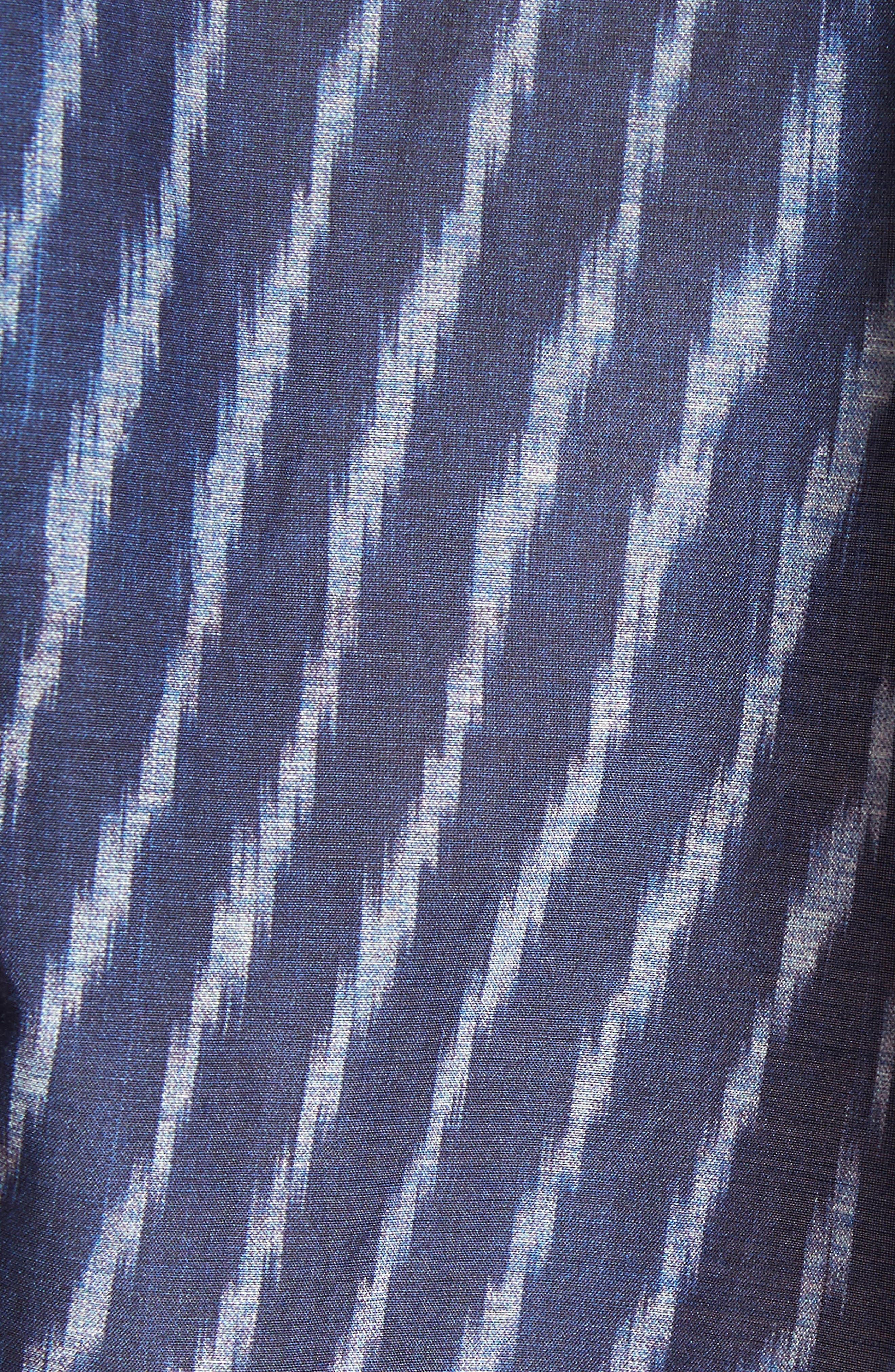 Modified Cold Shoulder Cotton Lawn Blouse,                             Alternate thumbnail 5, color,                             Blue Multi