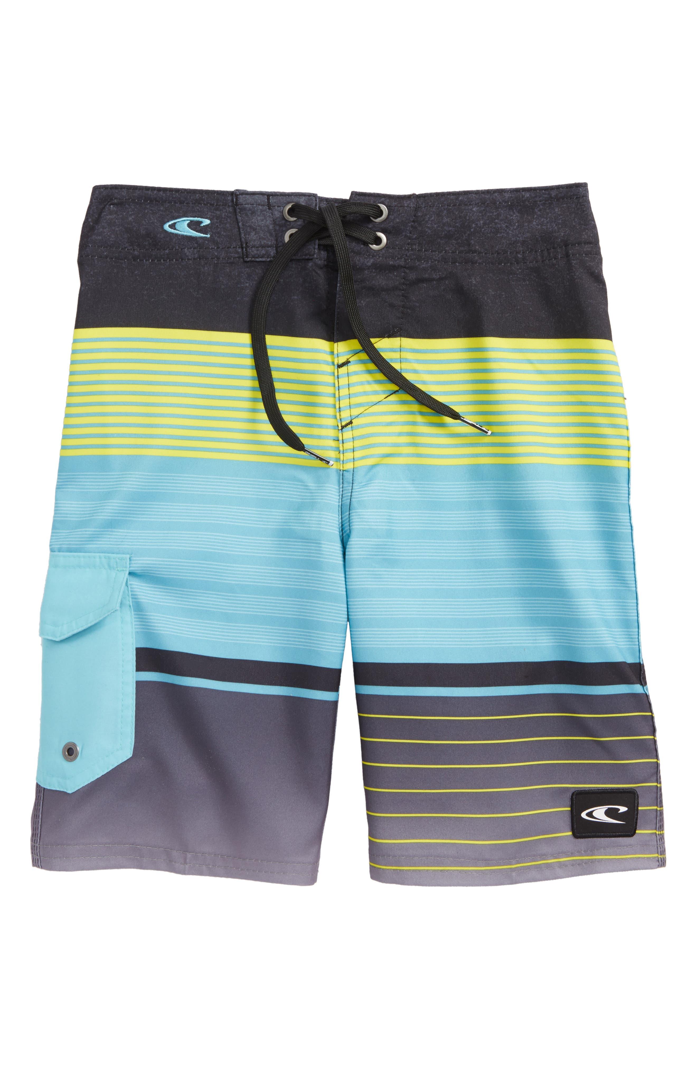 Lennox Stripe Board Shorts,                             Main thumbnail 1, color,                             Pool