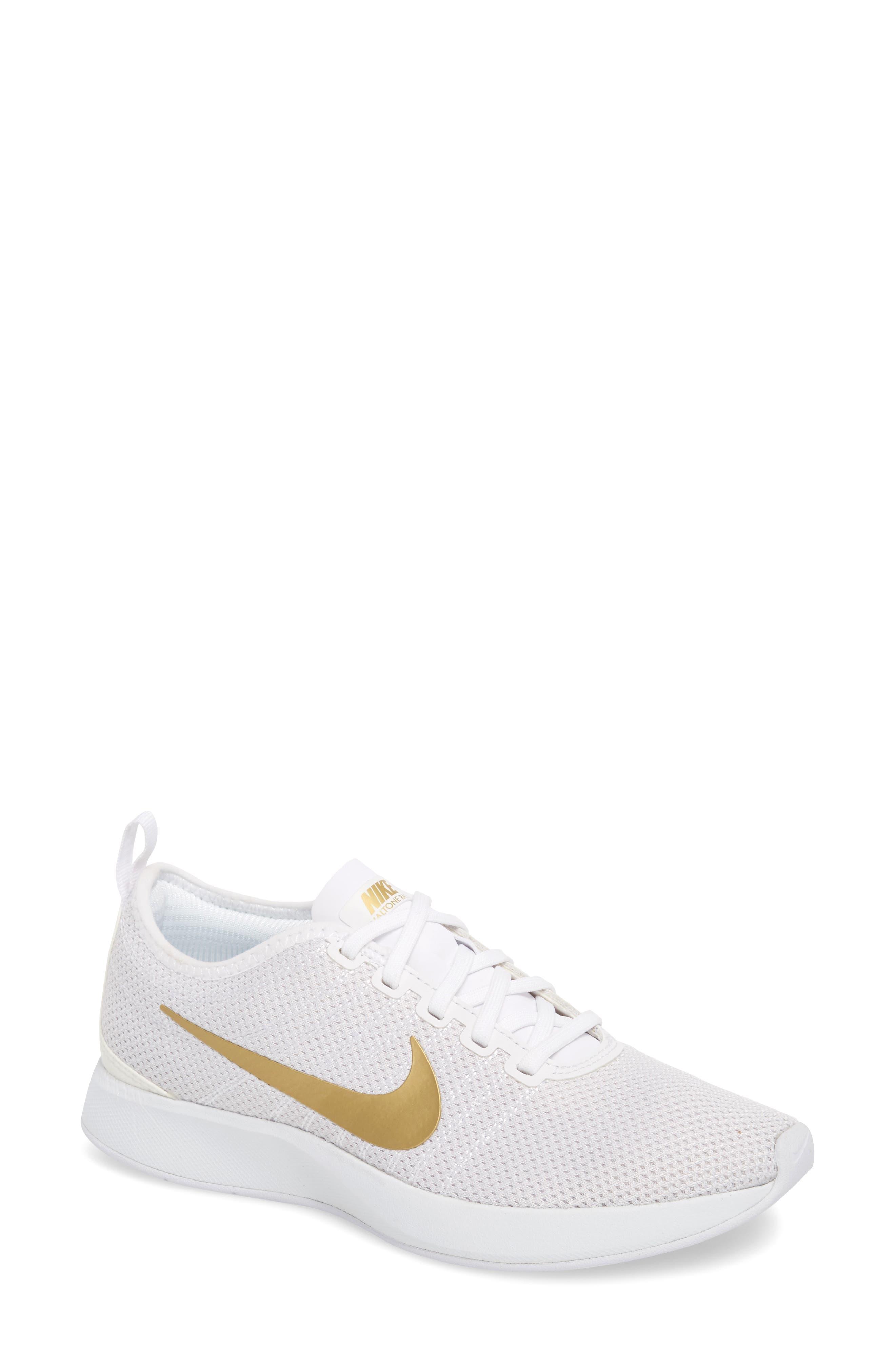6d679096f97 Nike Dualtone Racer Se Sneaker In White  Metallic Gold
