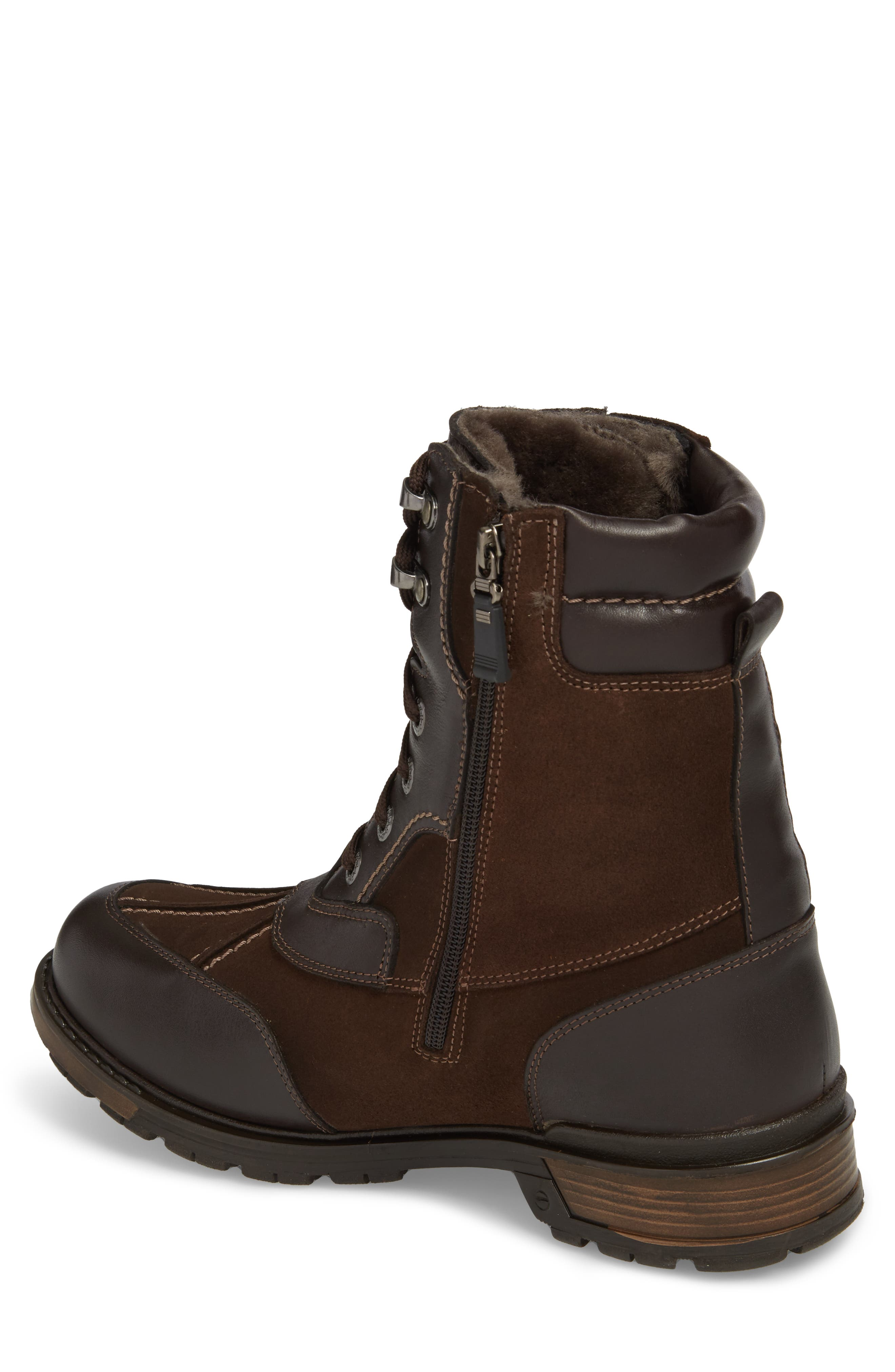 'Carrefour' Snow Boot,                             Alternate thumbnail 2, color,                             Dark Brown Leather
